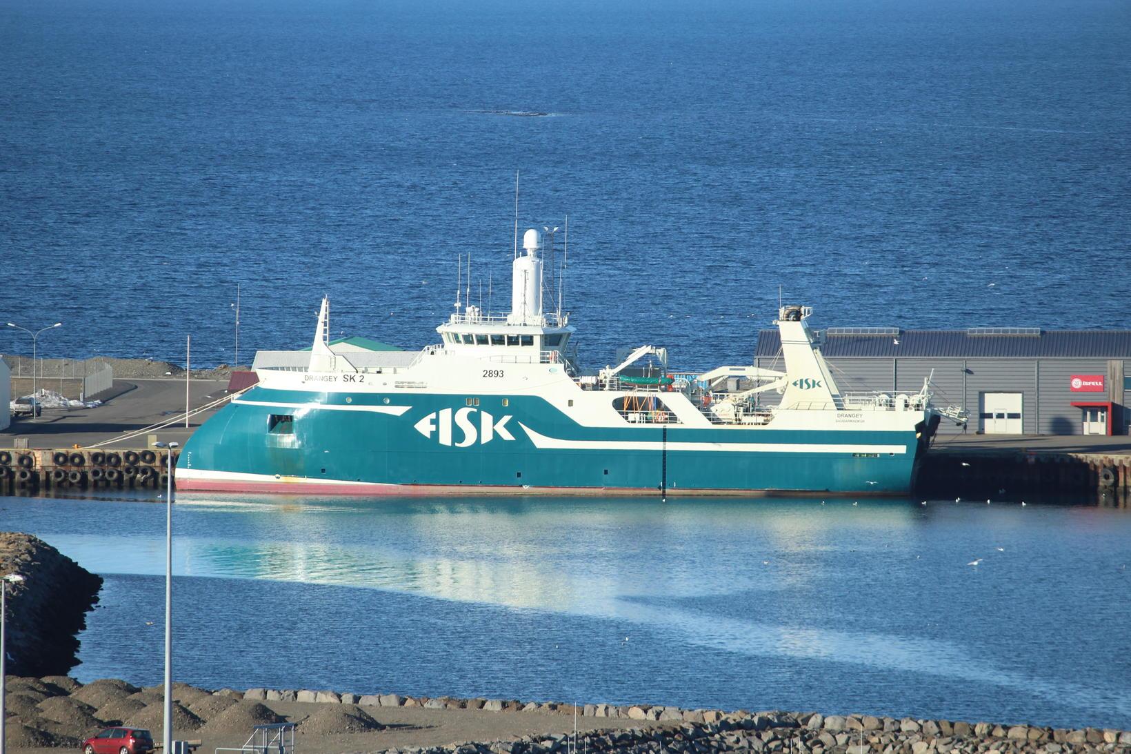 Drangey, togari Fisk Seafood, í höfn á Sauðárkróki.