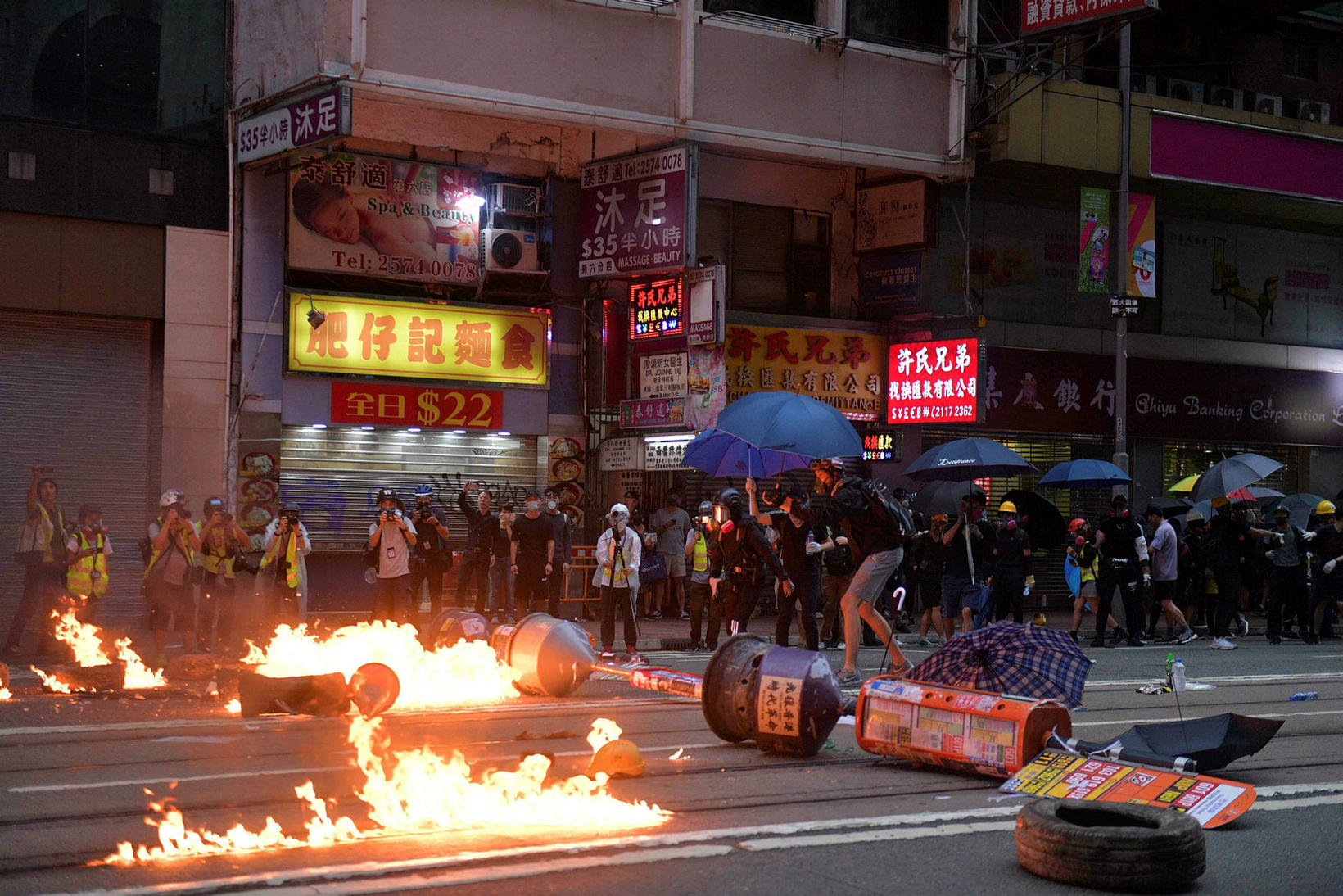 Óöld er sögð ríkja í Hong Kong.