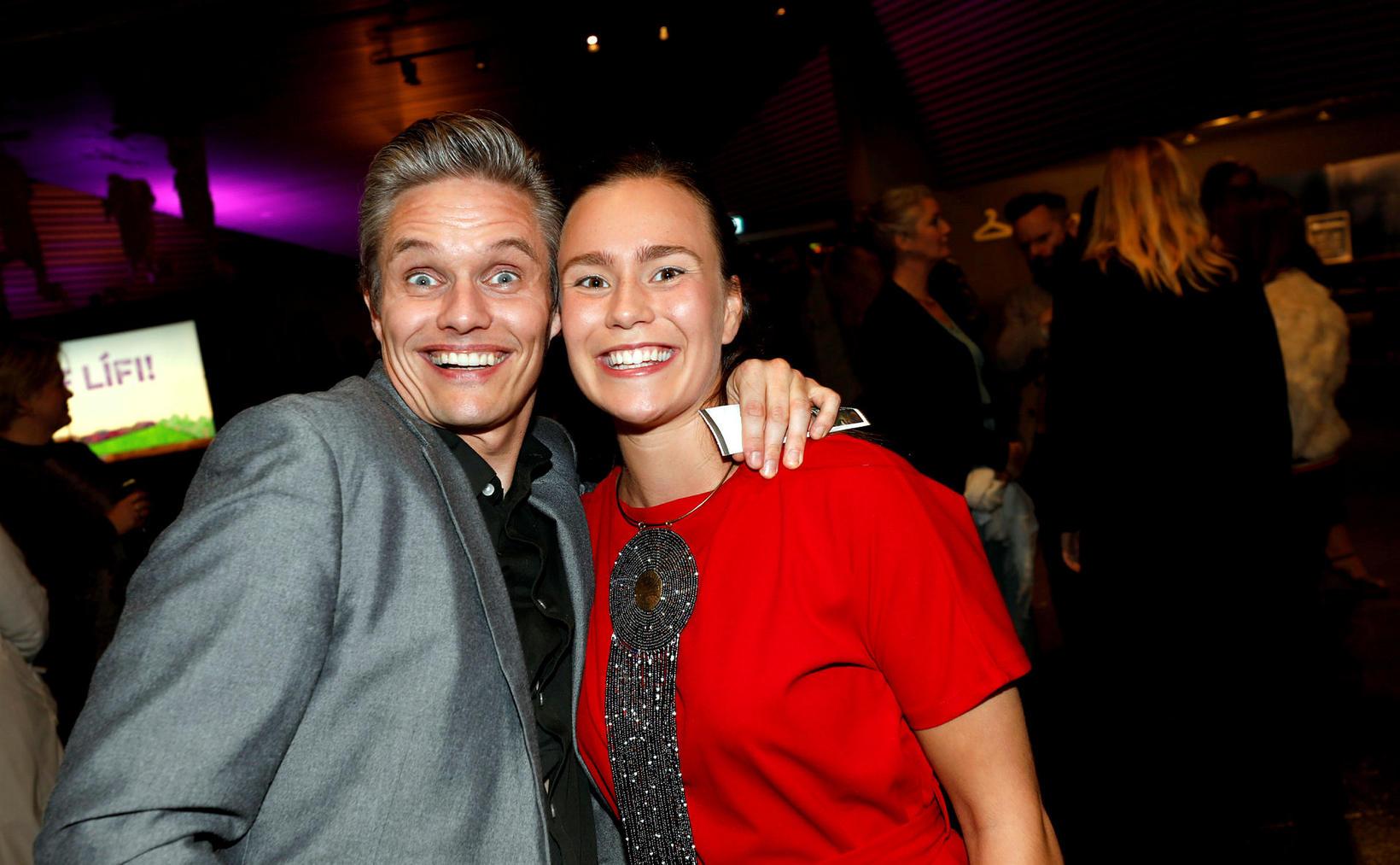 Björgvin Franz Gíslason og Rakel Björk Björnsdóttir.