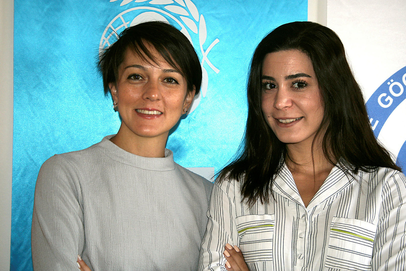 Sezen Yakin starfar hjá UNICEF í Gaziantep og Şuheda Kipri ...