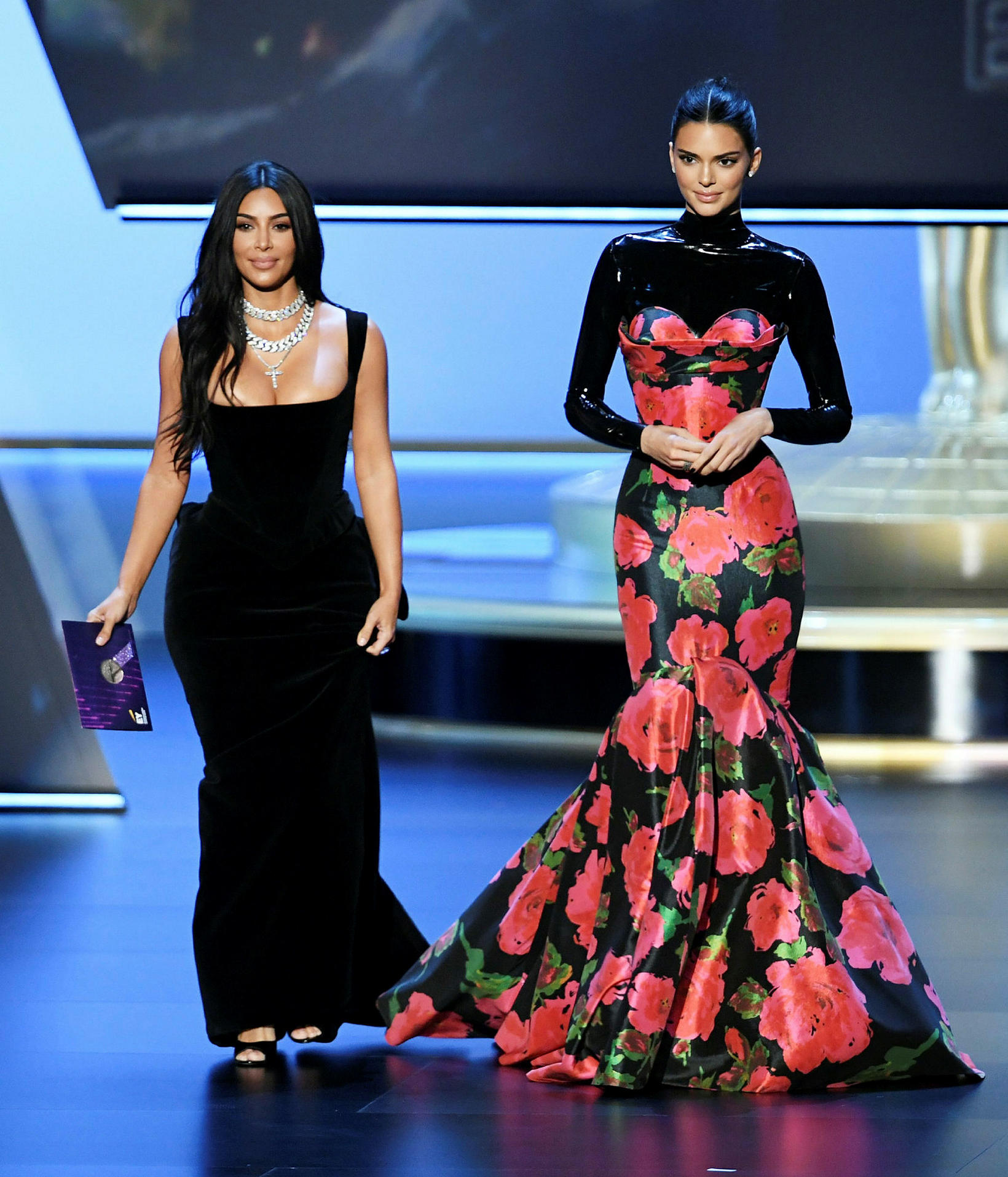 Þær systur Kim Kardashian West og Kendall Jenner.