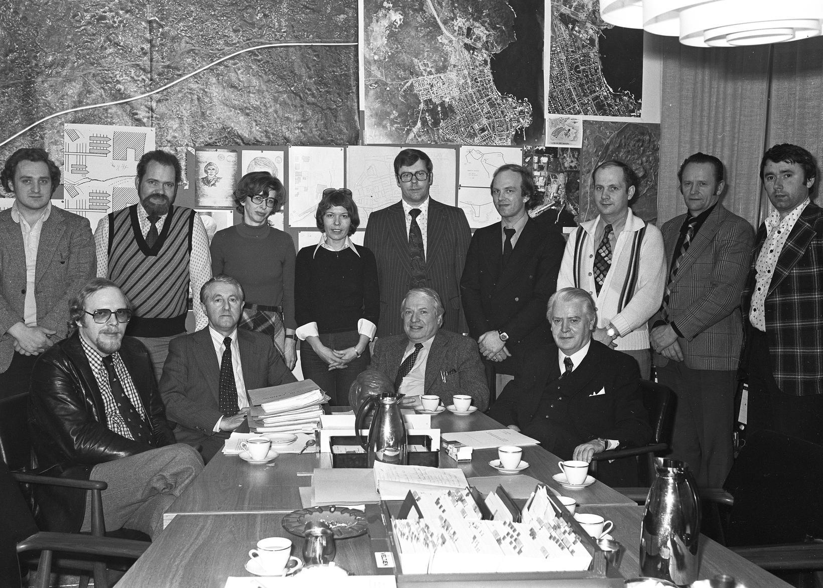 Rannsóknarhópur þýska rannsóknarlögreglumannsins Karl Schütz í ágúst 1976.