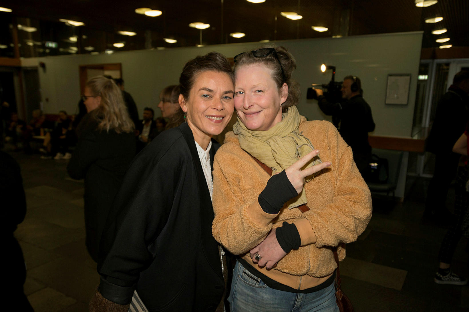 Margrét Örnólfsdóttir og Elísabet Ronaldsdóttir.