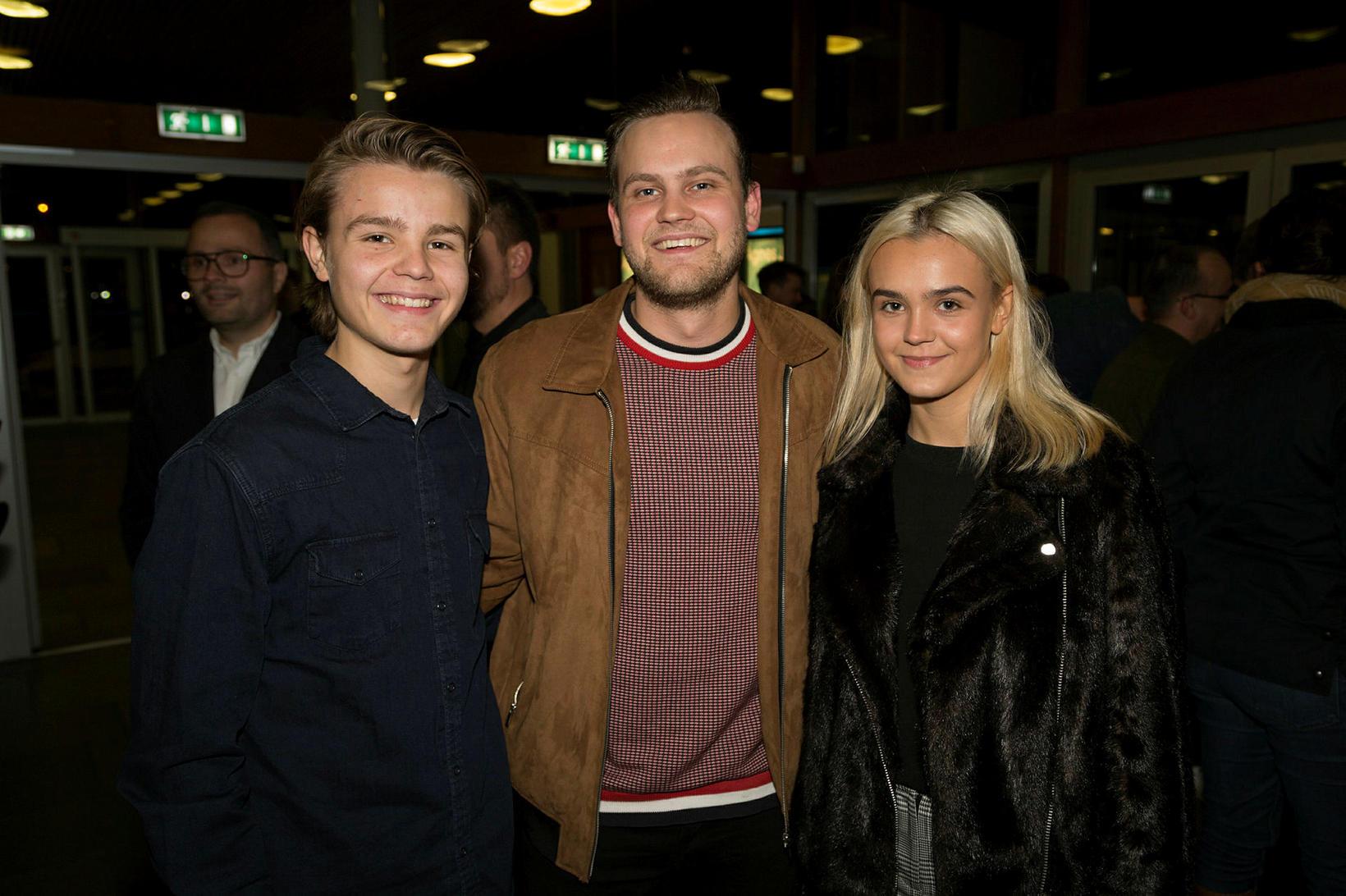 Sigurður Tómas, Arnar Már Pétursson og Védís Halla.