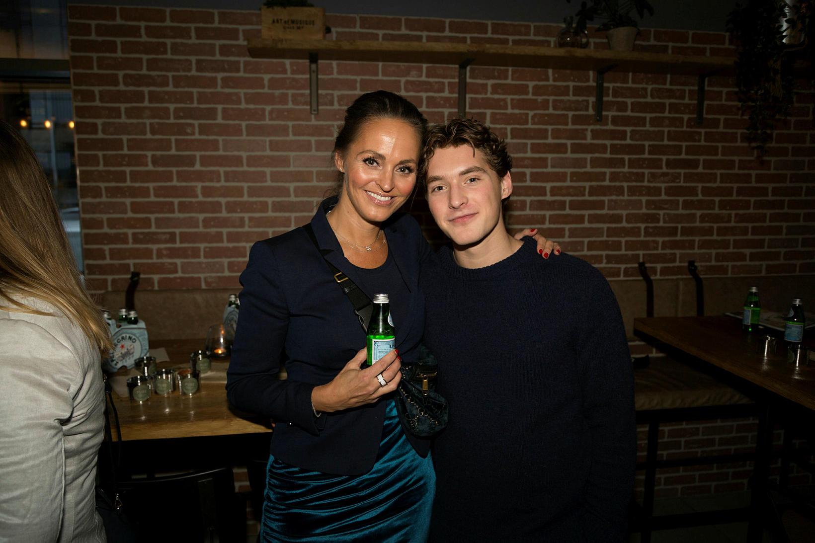 Sara Reginsdóttir og Tristan Alex Jónsson.