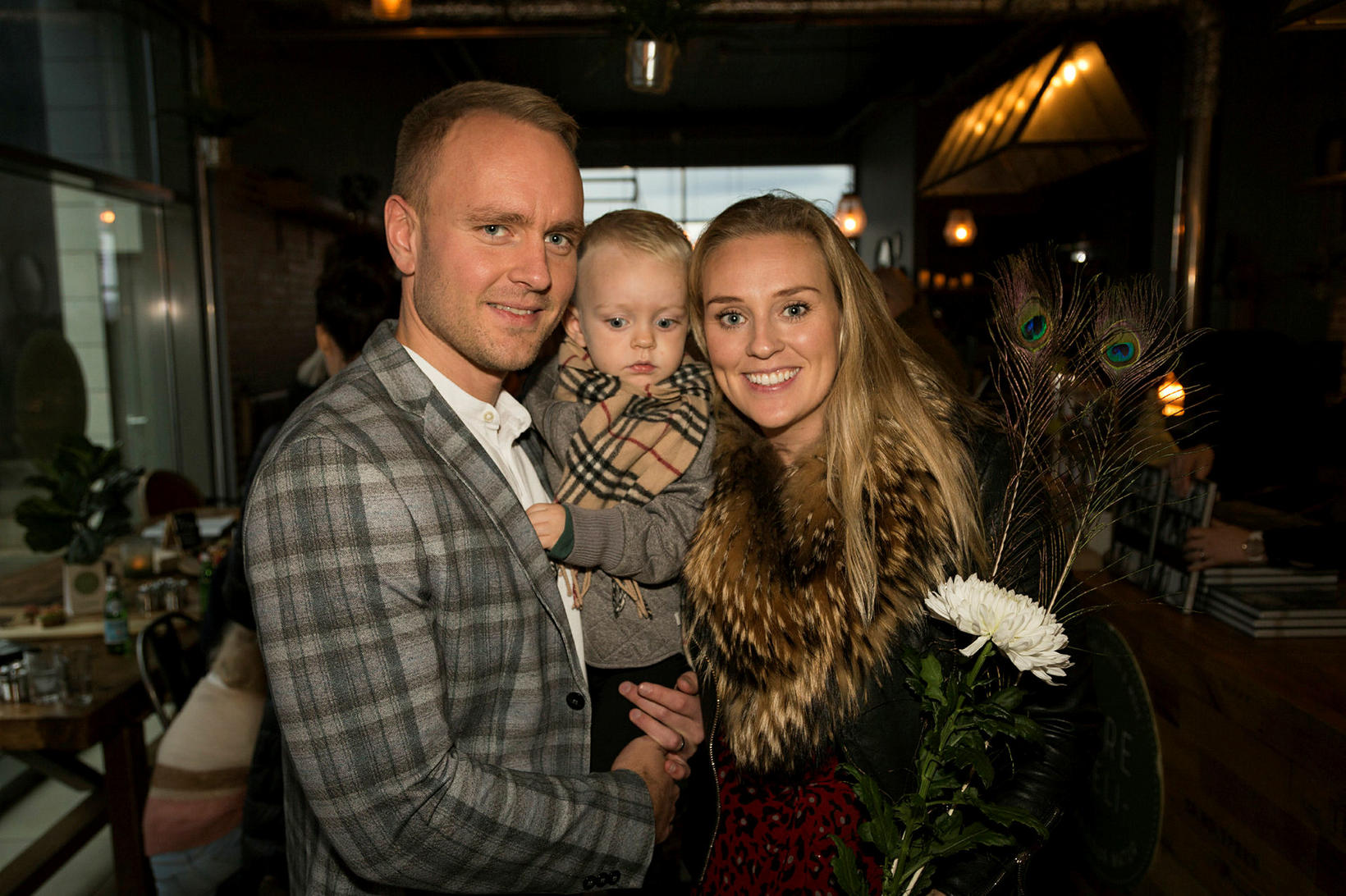 Sigurður Pétur Oddsson, Stefán Óliver og Elín Ósk Ólafsdóttir.