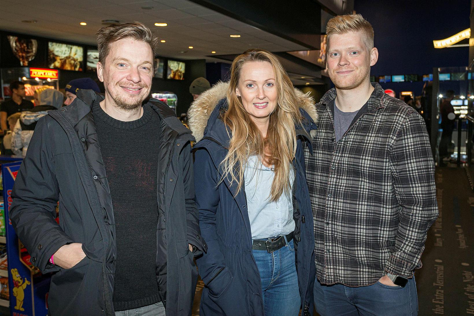 Baldvin Z, Arnbjörg Hafliðadóttir og Vigfús Gunnarsson.