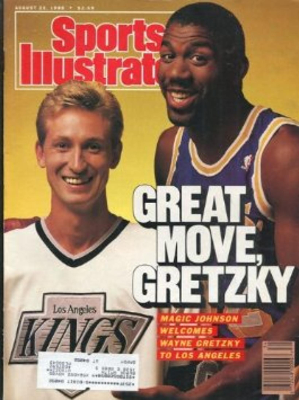 Forsíða íþróttatímaritsins kunna Sports Illustrated eftir að Gretzky færði sig …