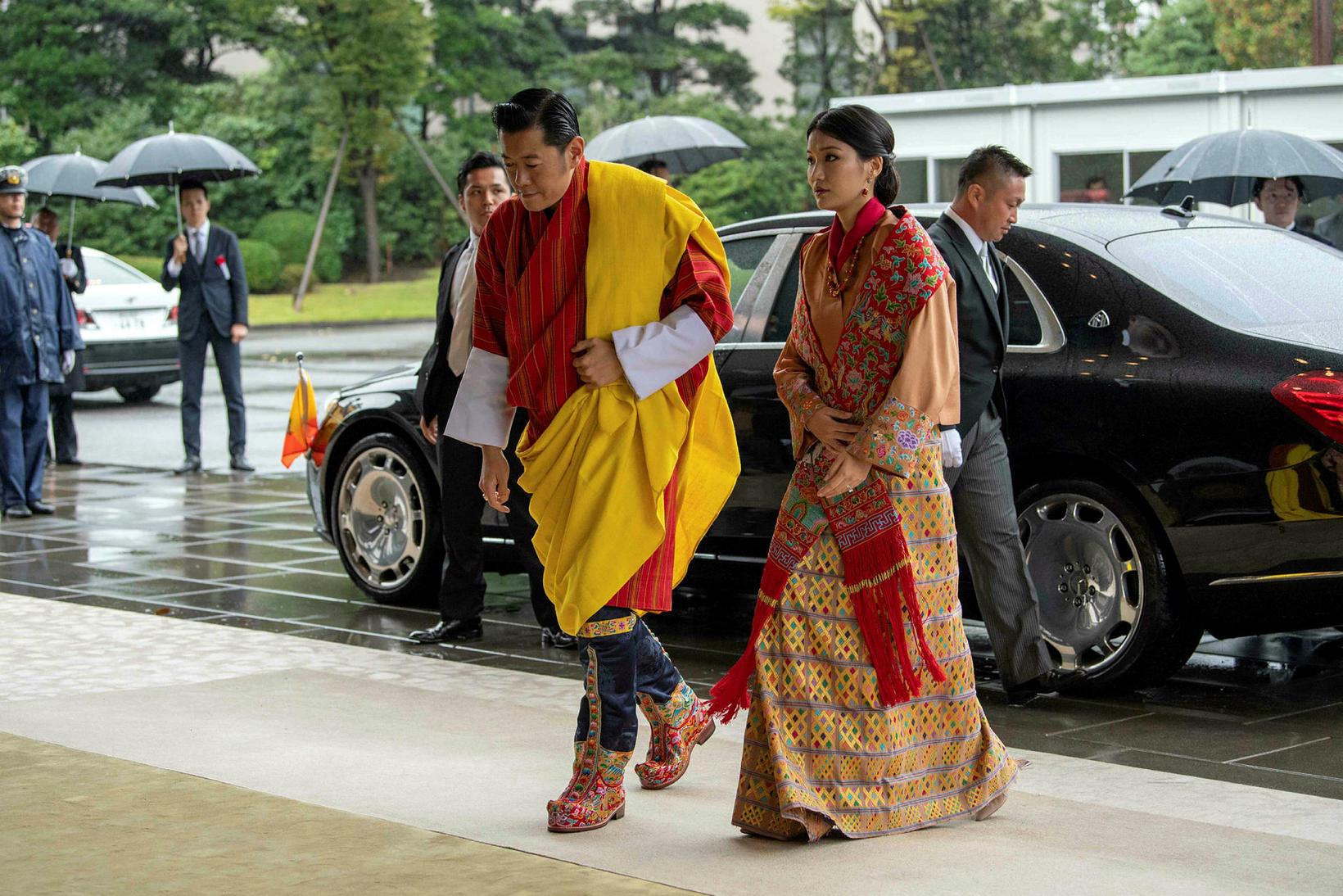 Jigme Khesar Namgyel Wangchuck konungur Bútan og Jetsun Pema drottning.