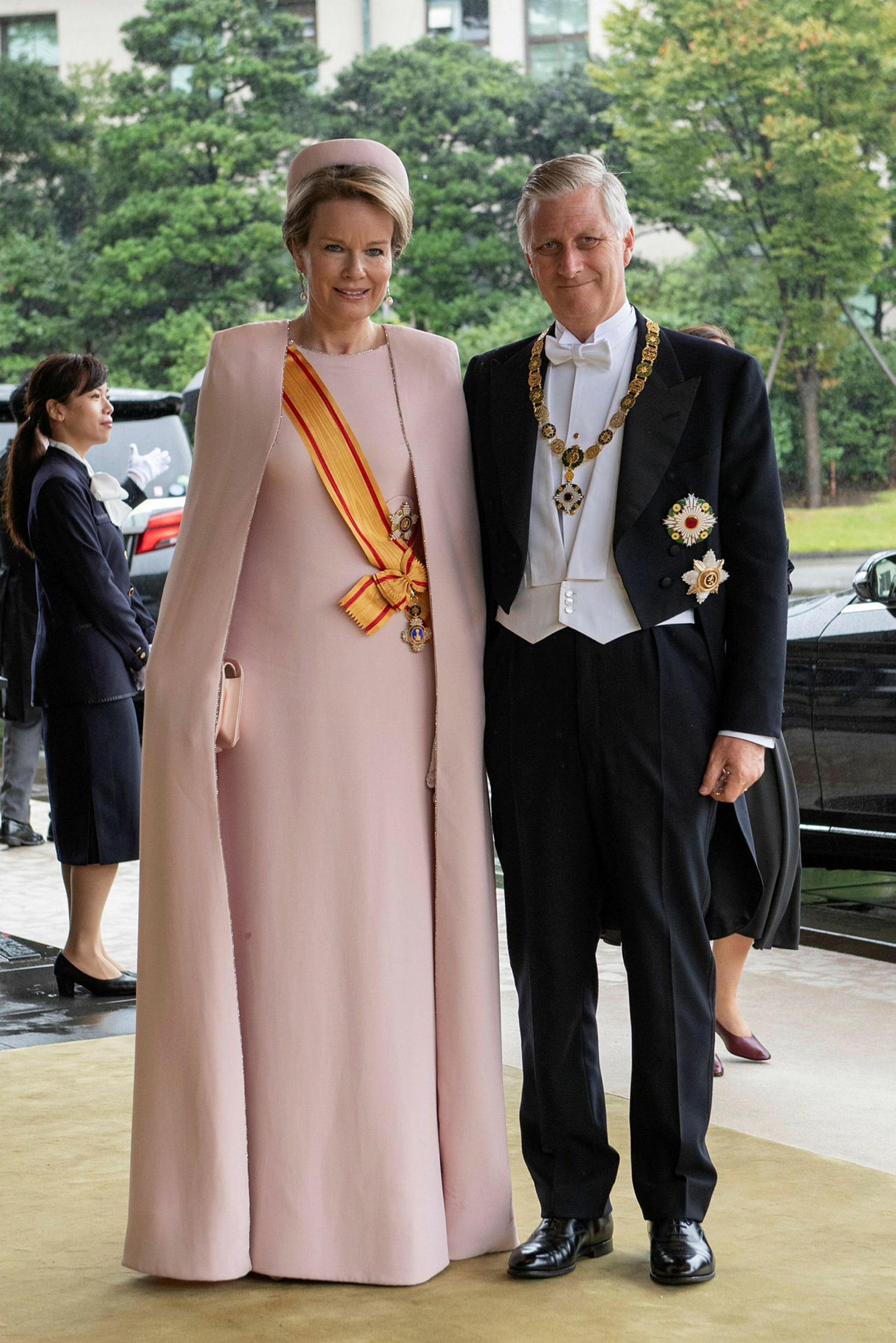 Philippe konungur Belgíu og Mathilde drottning Beglíu.