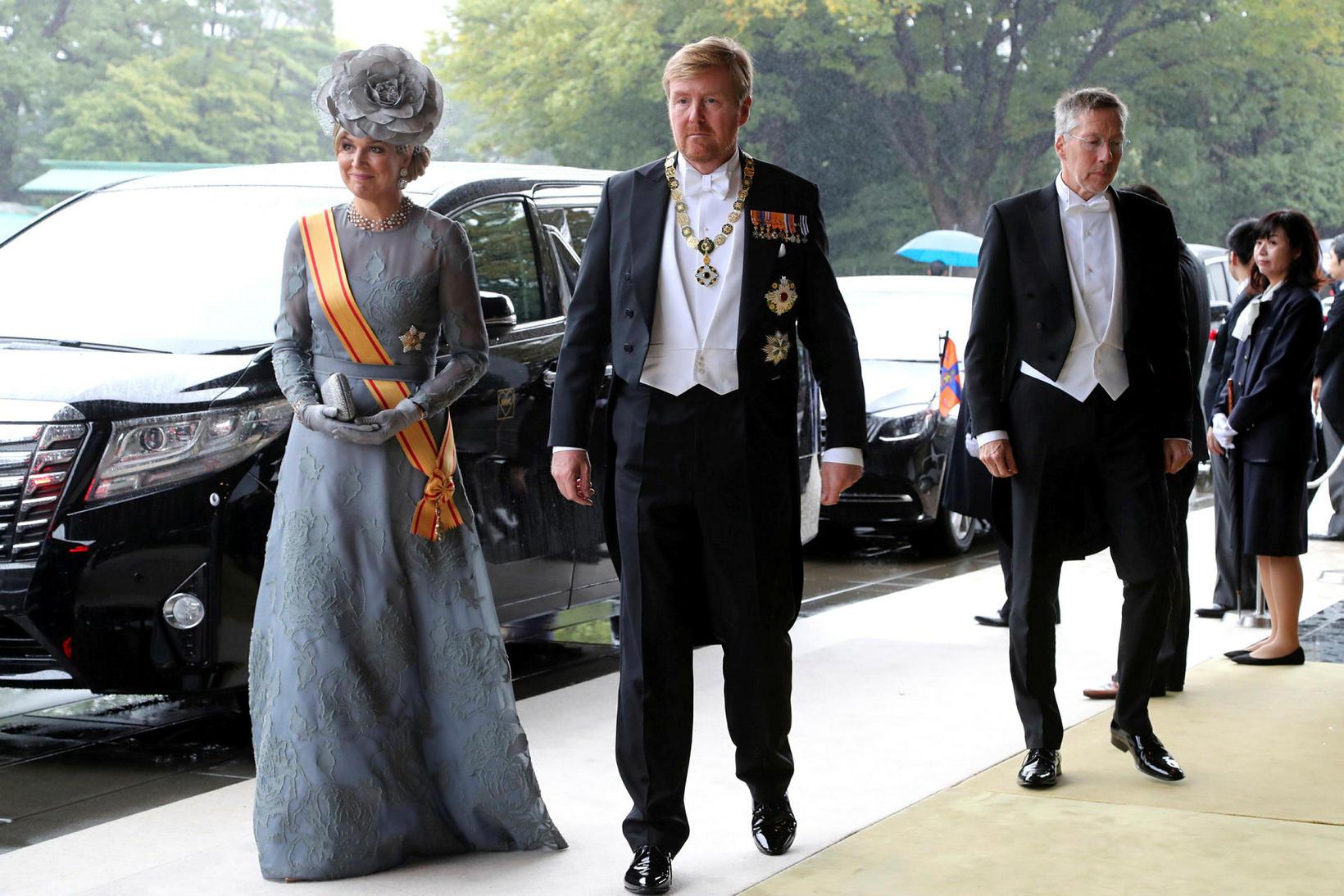 Vilhjálmur-Alexander konungur Hollands og Maxma drottning létu sig ekki vanta.