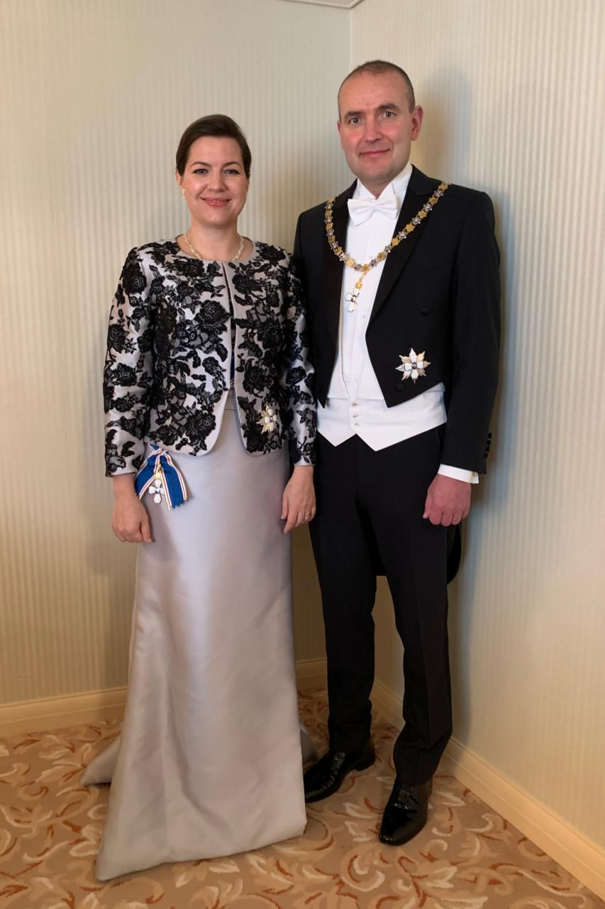 President Guðni Th. Jóhannesson and First Lady Eliza Reid, on ...