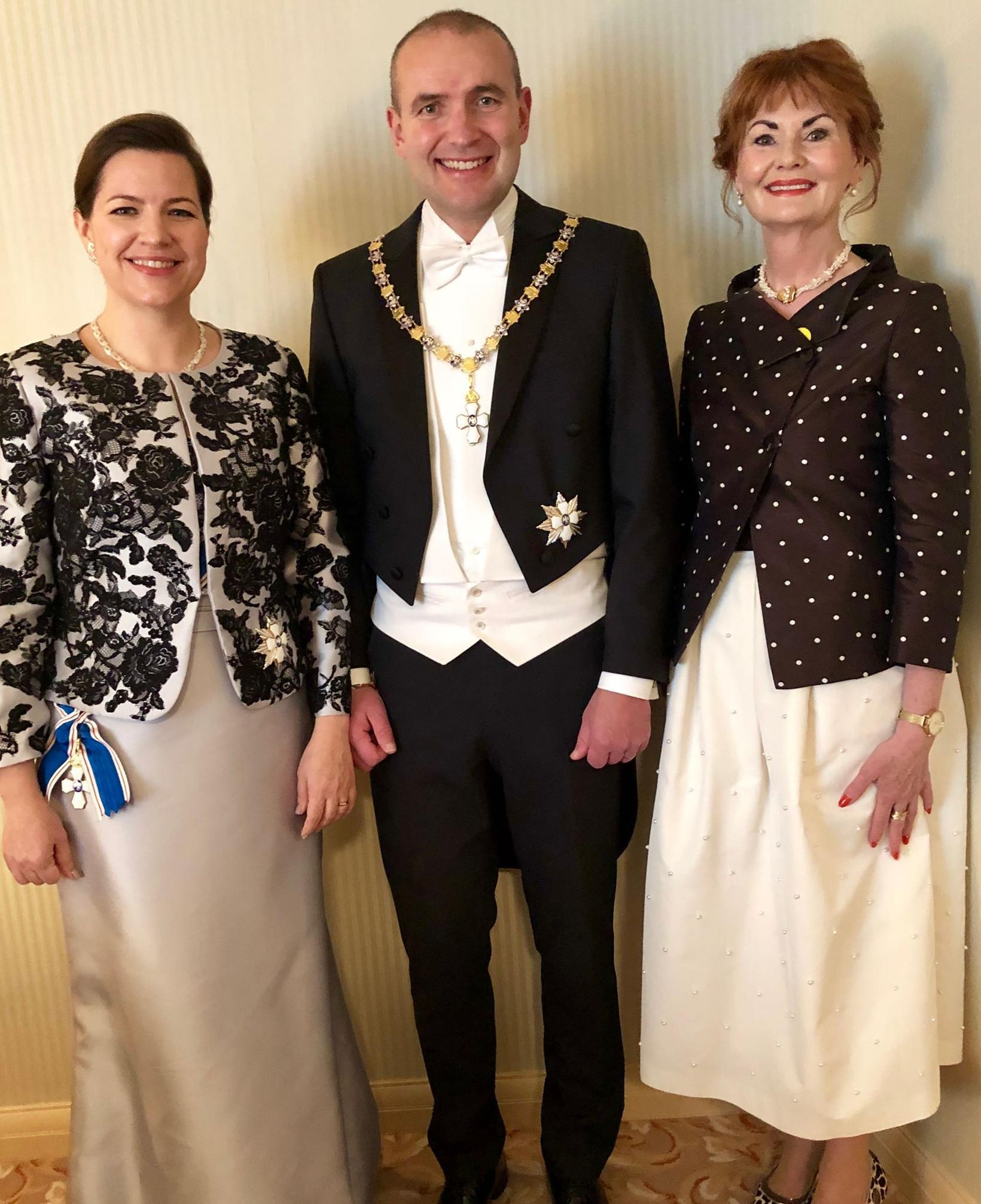 President Guðni Th. Jóhannesson and First Lady Eliza Reid, with ...
