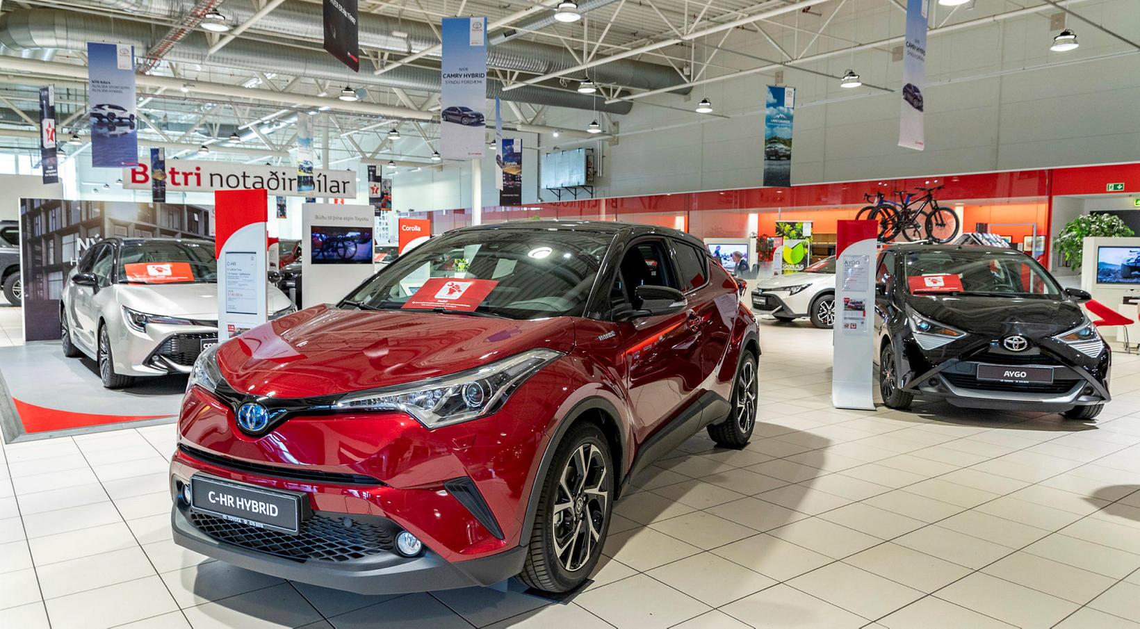 Toyota hefur mjög sterka markaðshlutdeild á íslenskum bílamarkaði.