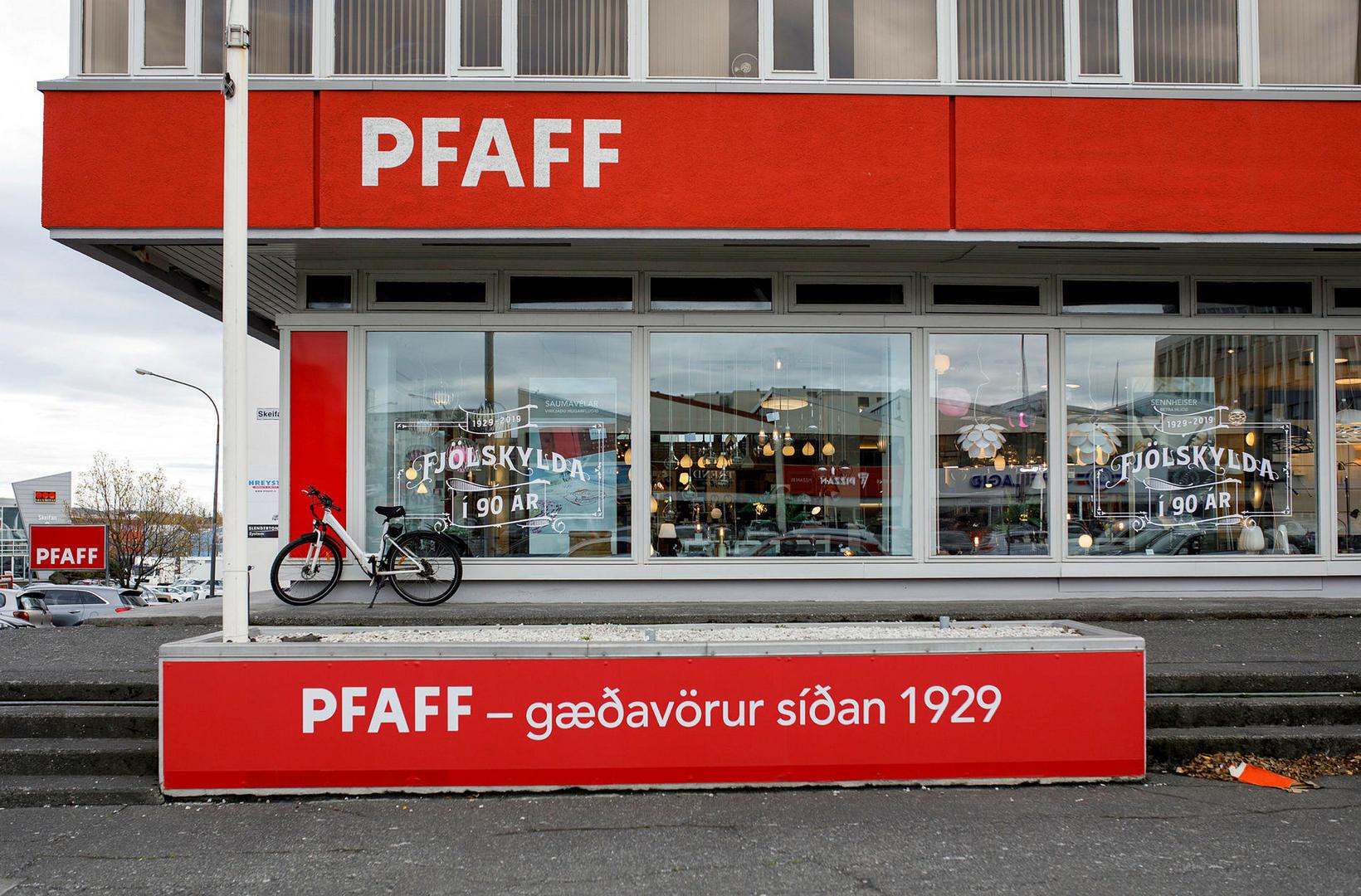 PFAFF er eitt af sterkustu kennileitum Grensásvegar.