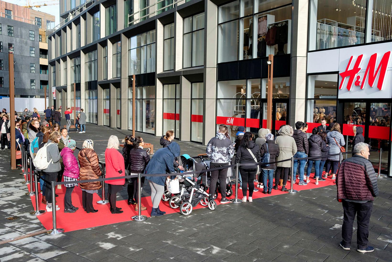 H&M er meðal þeirra verslana sem ákveðið hafa að hasla …