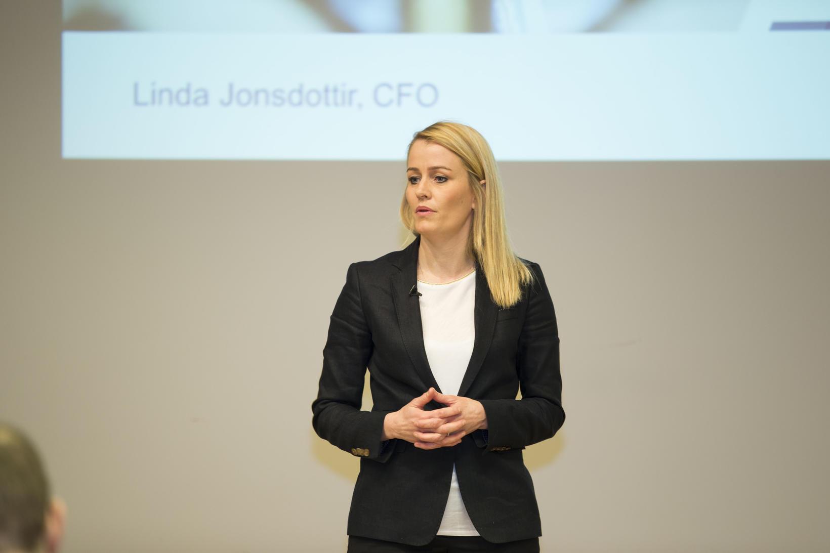 Linda Jónsdóttir, fjármálastjóri Marel, segir ánægju innan fyrirtækisins með uppgjörið ...