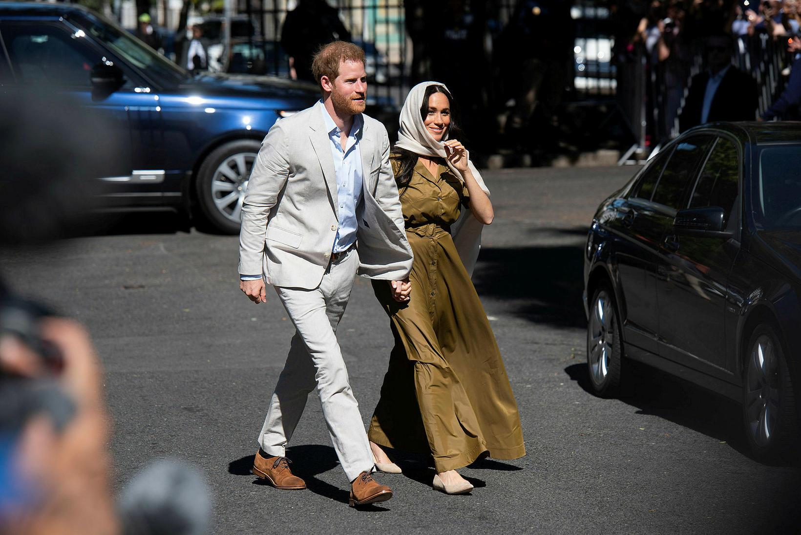 Harry Bretaprins og Meghan hertogaynja.
