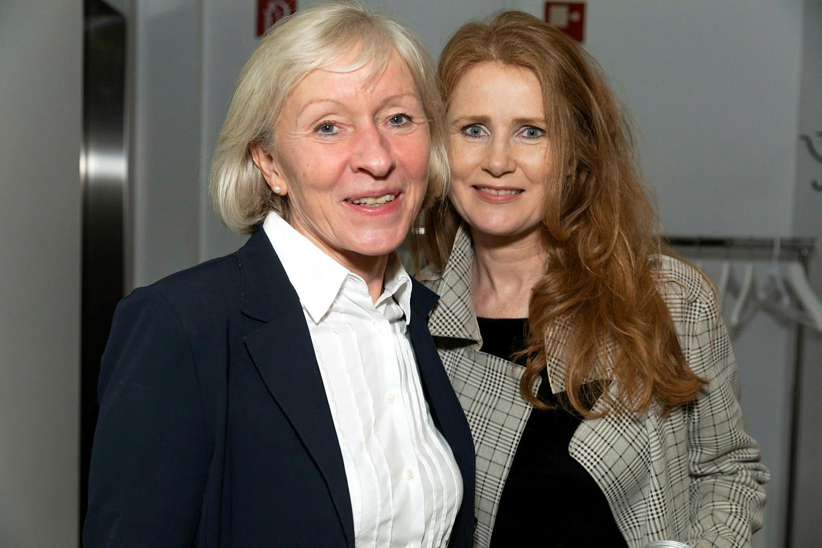 Ruth Bobricht og Eva Þengilsdóttir.