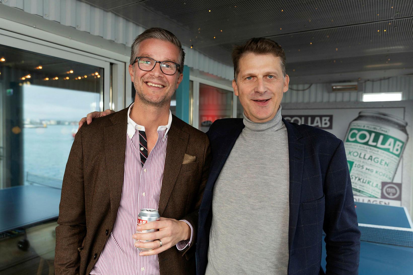 Jónas Guðmundsson og Hjörleifur Pálsson.
