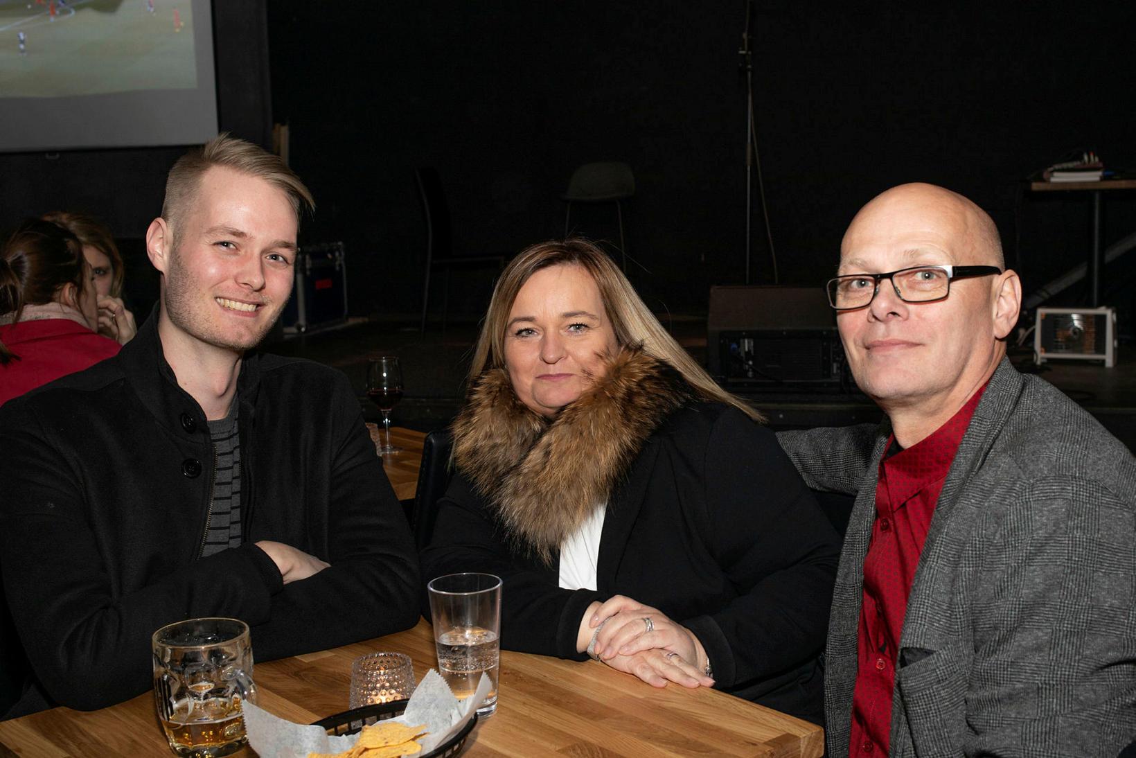 Axel Birgir Gústavsson, Guðrún Axelsdóttir og Gústav Daníelsson.