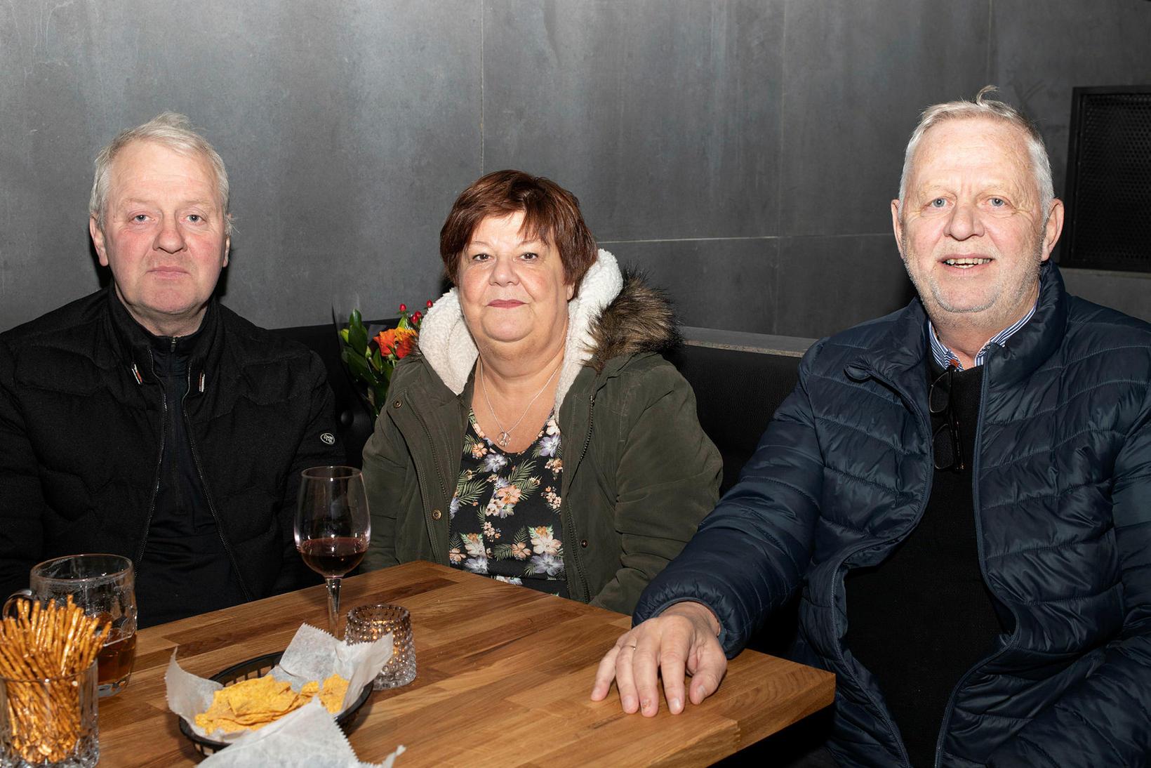 Einar Gunnarsson, Sigrún Jóhannsdóttir og Þorsteinn Gunnarsson.