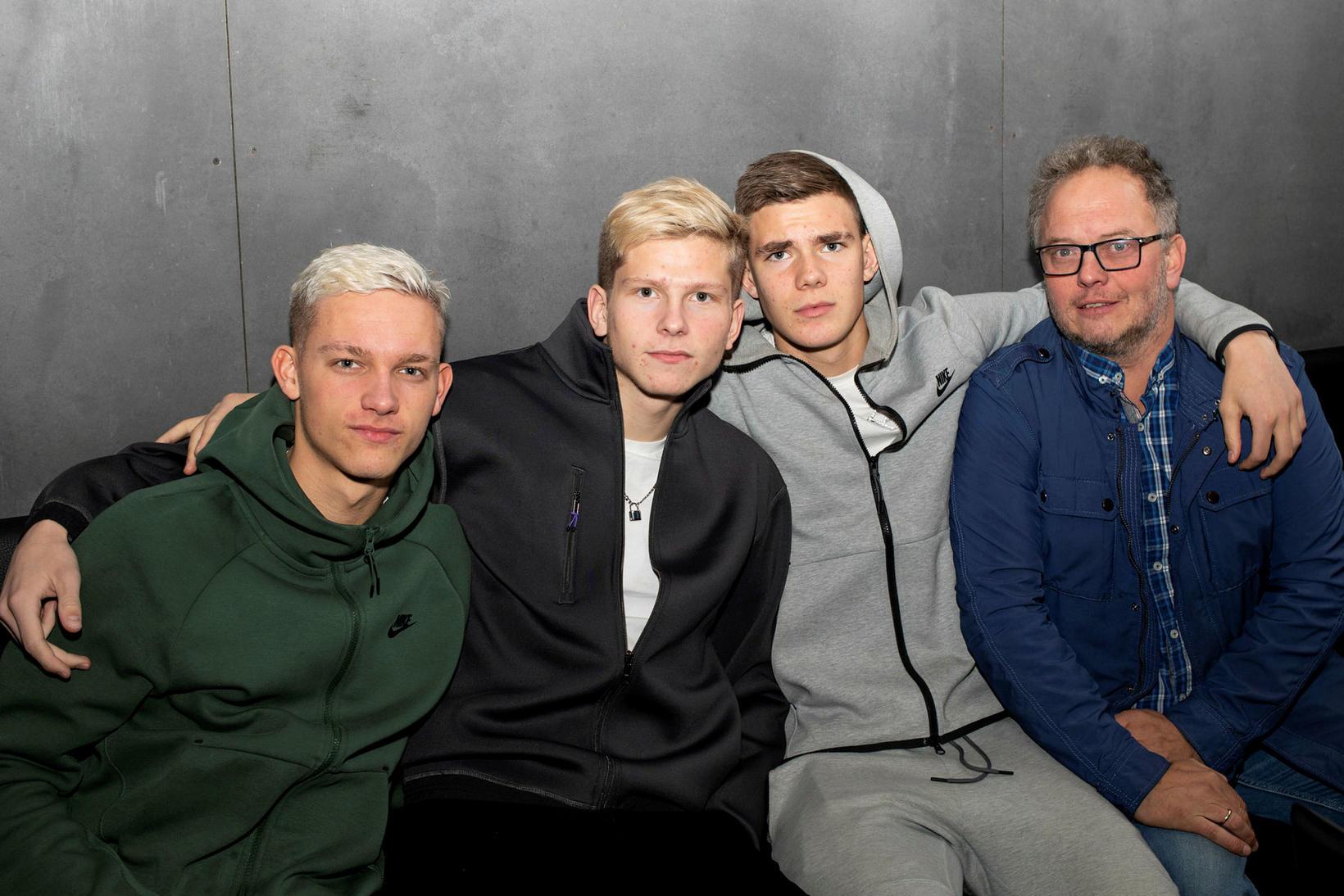 Bjarni Þór Hafstein, Logi Tómasson, Brynjólfur Willumsson og Ómar Stefánsson.