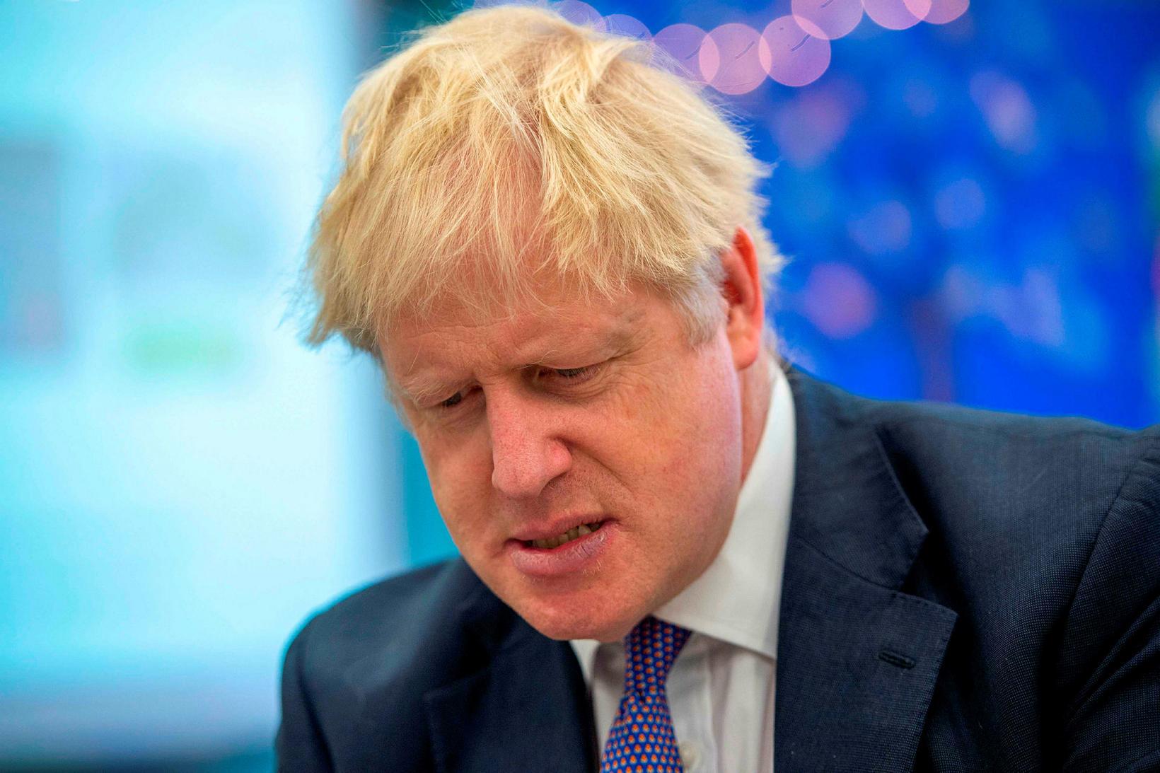 Boris Johnson, forsætisráðherra Bretlands, er beðinn um að vanda orðaval ...