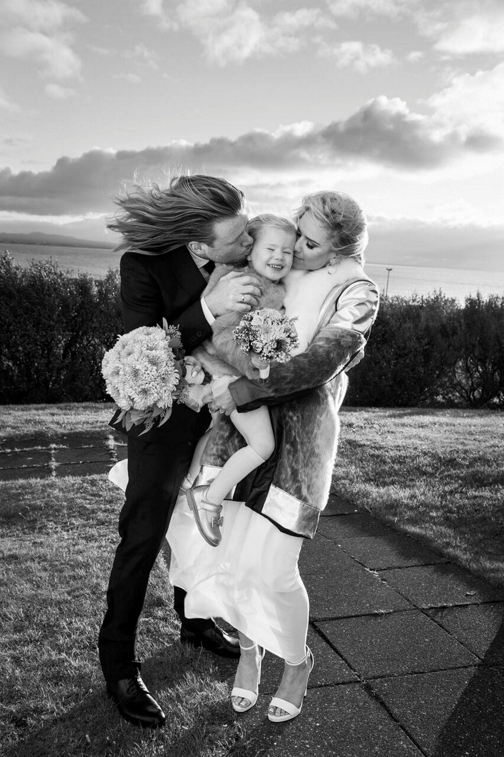 Davíð og Jóhanna Guðrún eiga tvö börn en þau giftu …