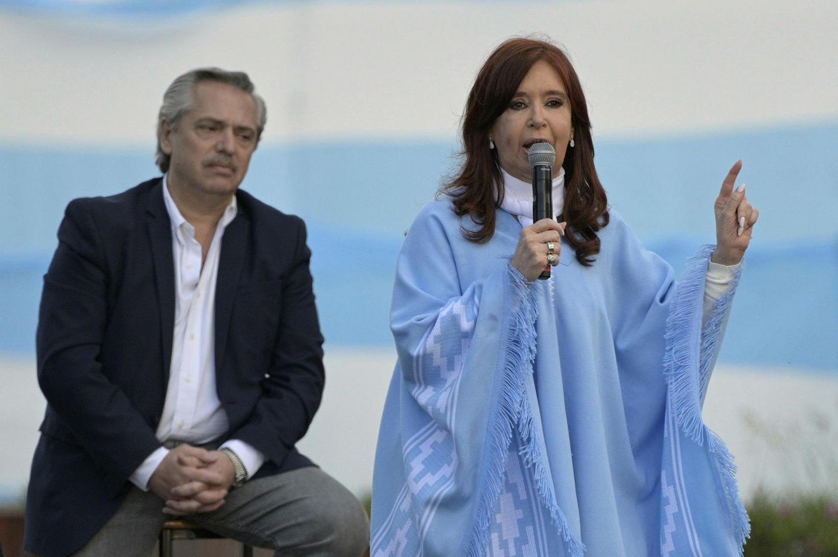Cristina ásamt nýkjörnum forseta, Alberto Fernándes.