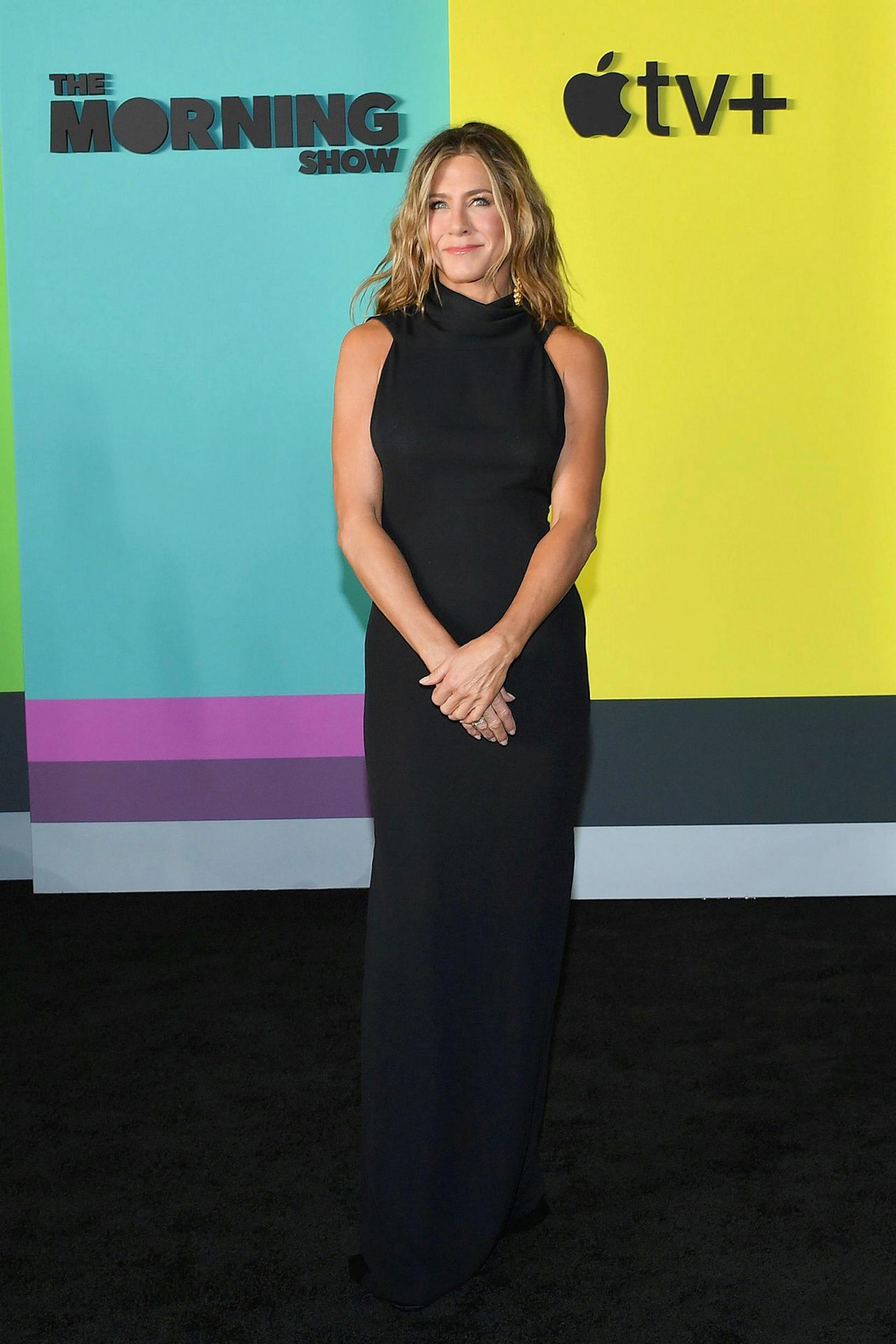 Jennifer Aniston í kjólnum góða.