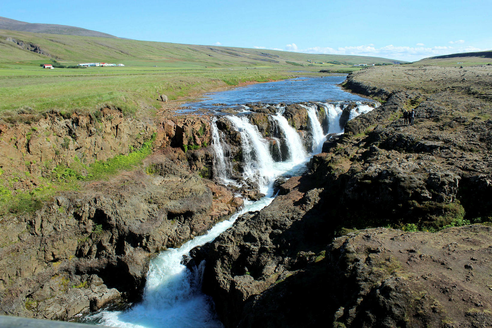This is what Kolugljúfur waterfall in Víðidalsá river looked like …