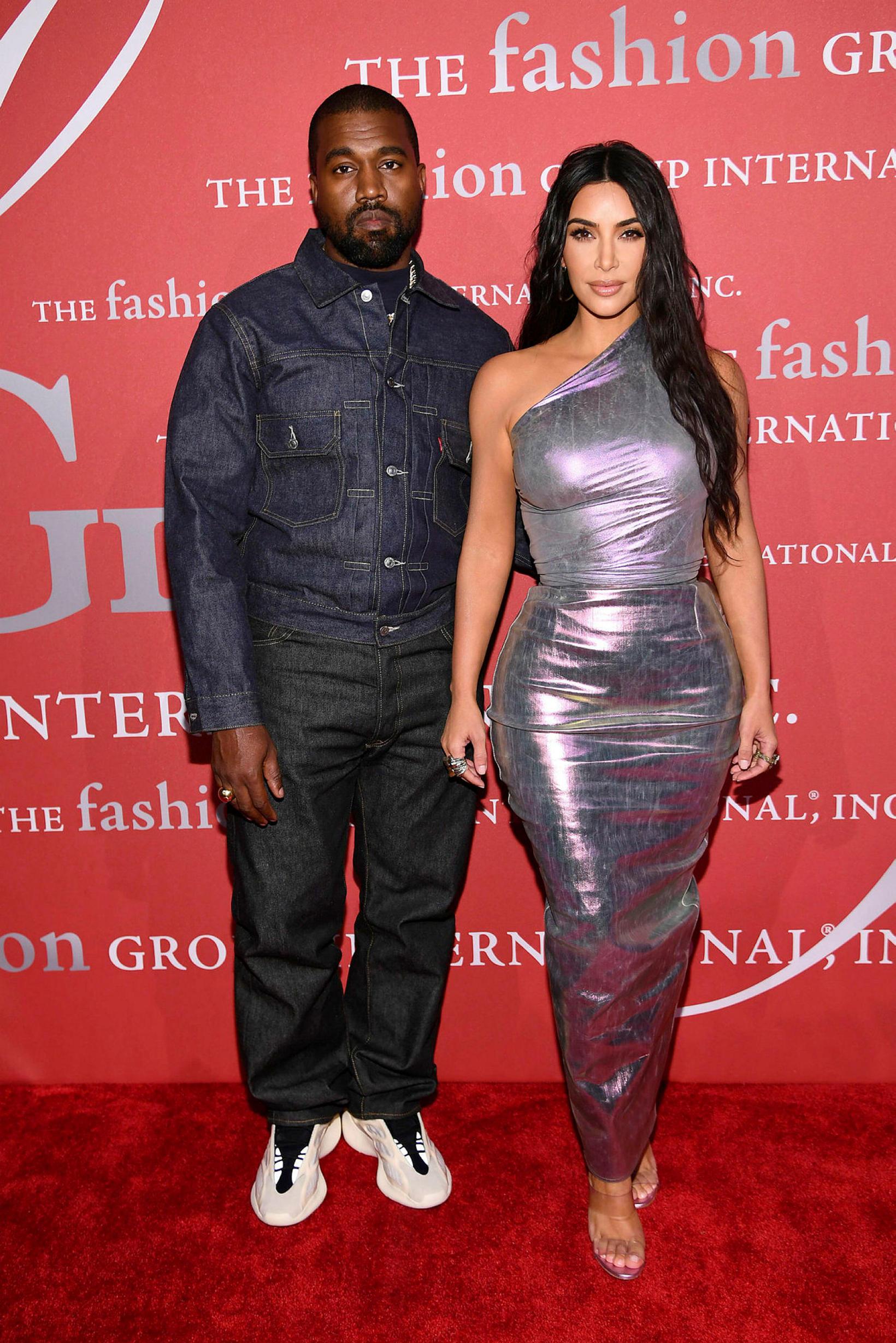 Kanye West og Kim Kardashian eiga fjögur börn.