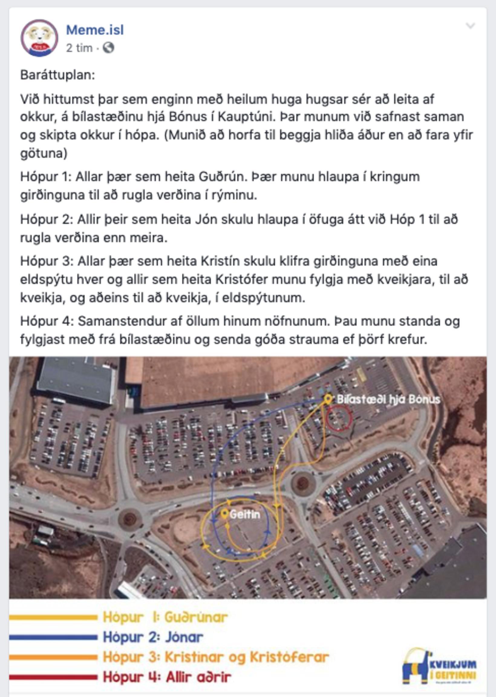Eins og sjá má er tilræðið þaulskipulagt.