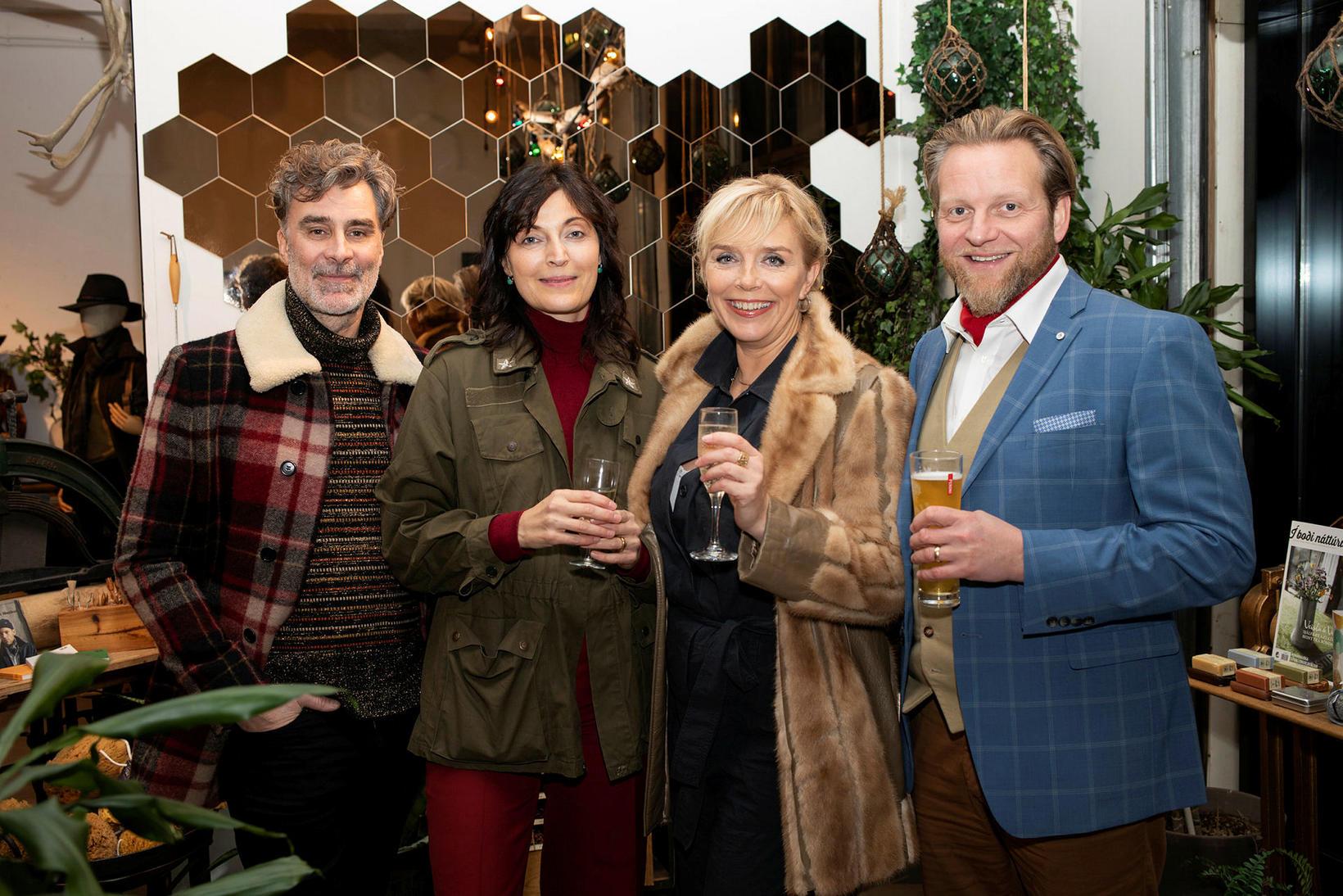 Steingrímur Leifsson, Margrét Gylfadóttir, Hrefna Ben og Ýmir Björgvin Arthúrsson.