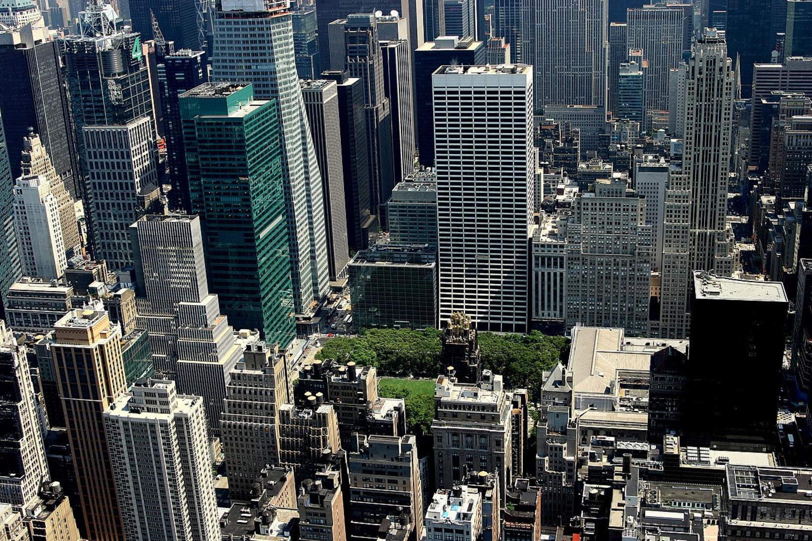 Bryant Park í New York.