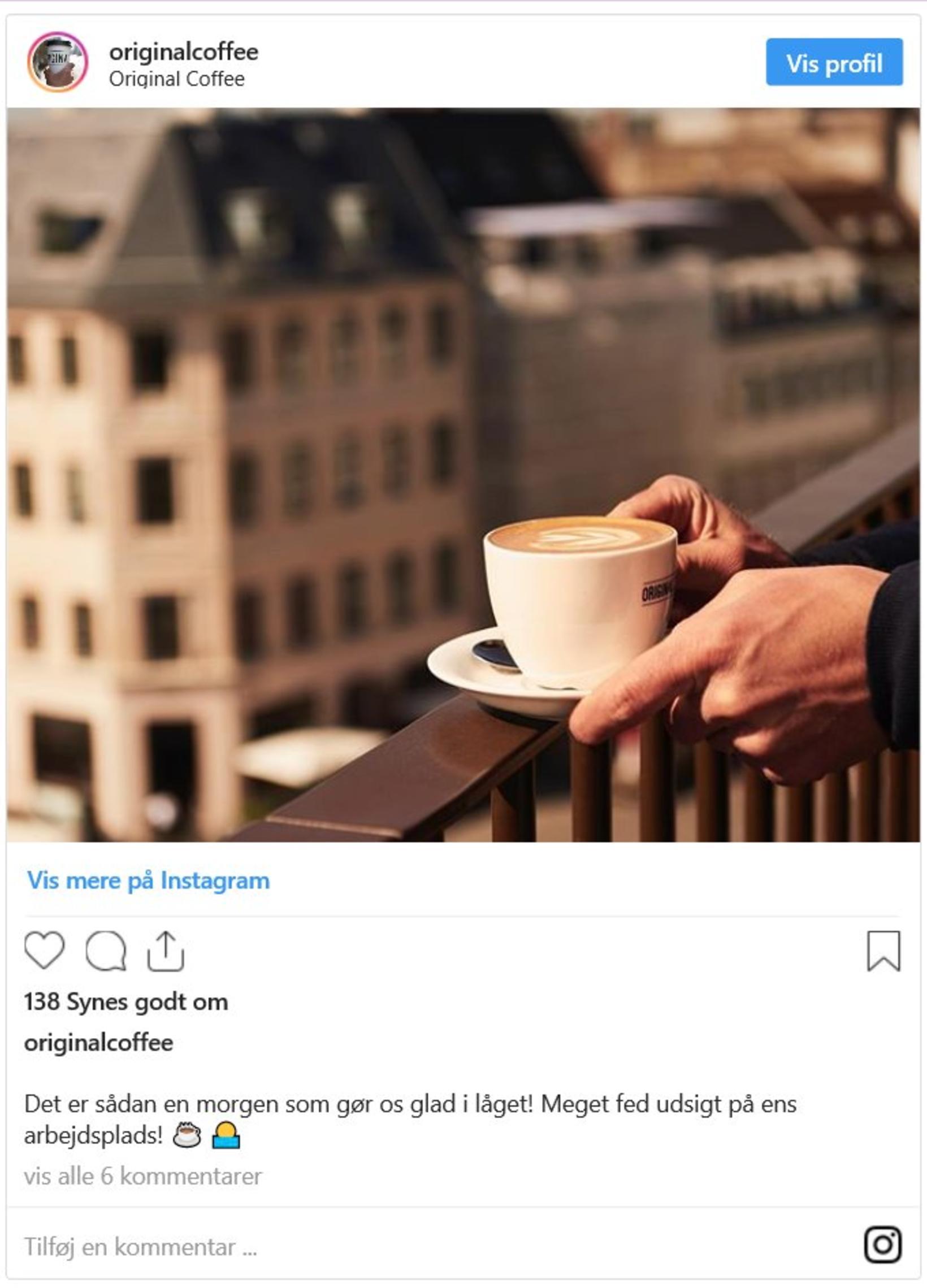 Original Coffee er keðja af kaffibörum sem þú finnur á …