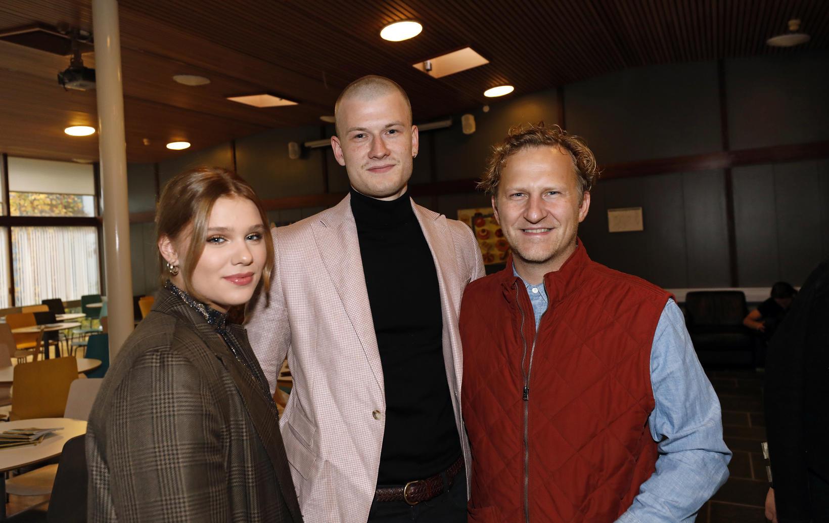 Þórunn Birna Guðmundsdóttir, Alexander Sær Elfarsson og Karl Ágúst Guðmundsson.
