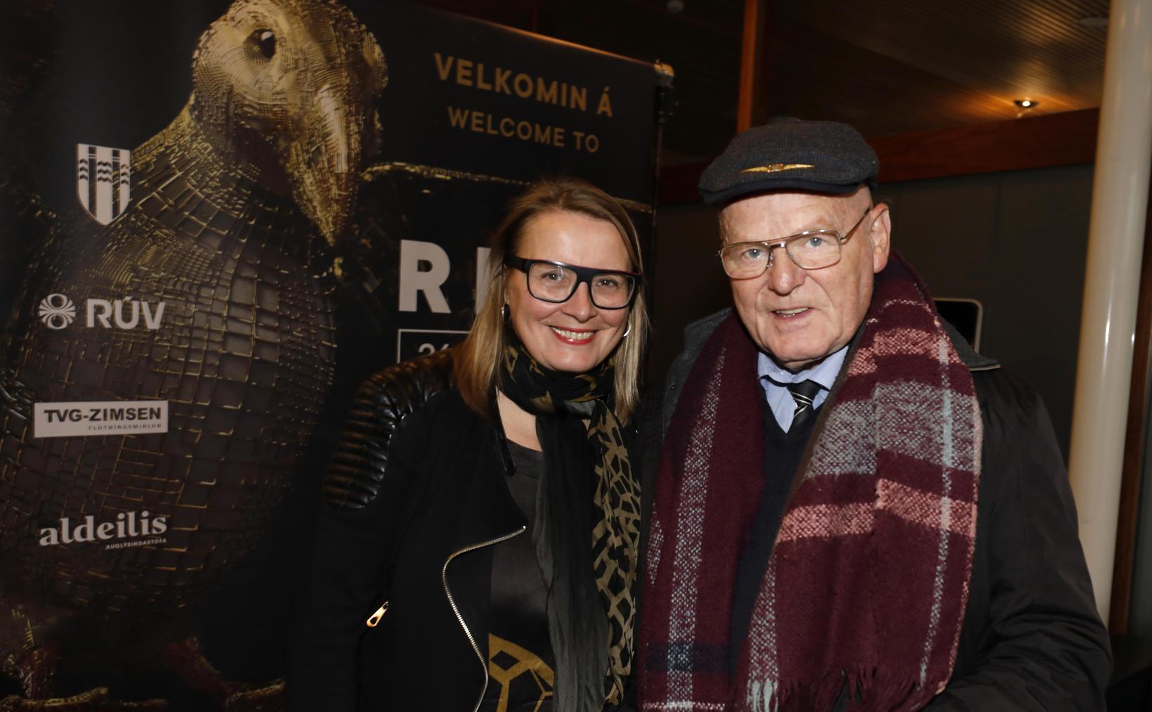 Ingibjörg Gréta Gísladóttir og Ómar Ragnarsson.