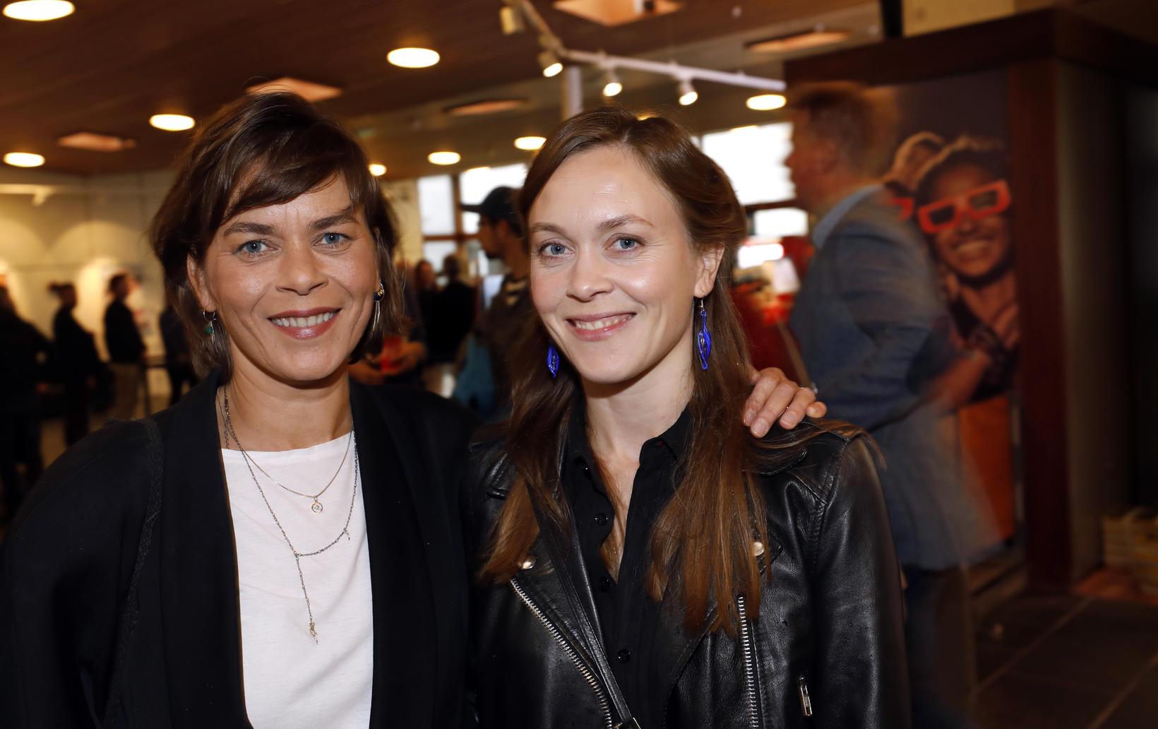 Margrét Örnólfsdóttir og Álfrún Örnólfsdóttir.
