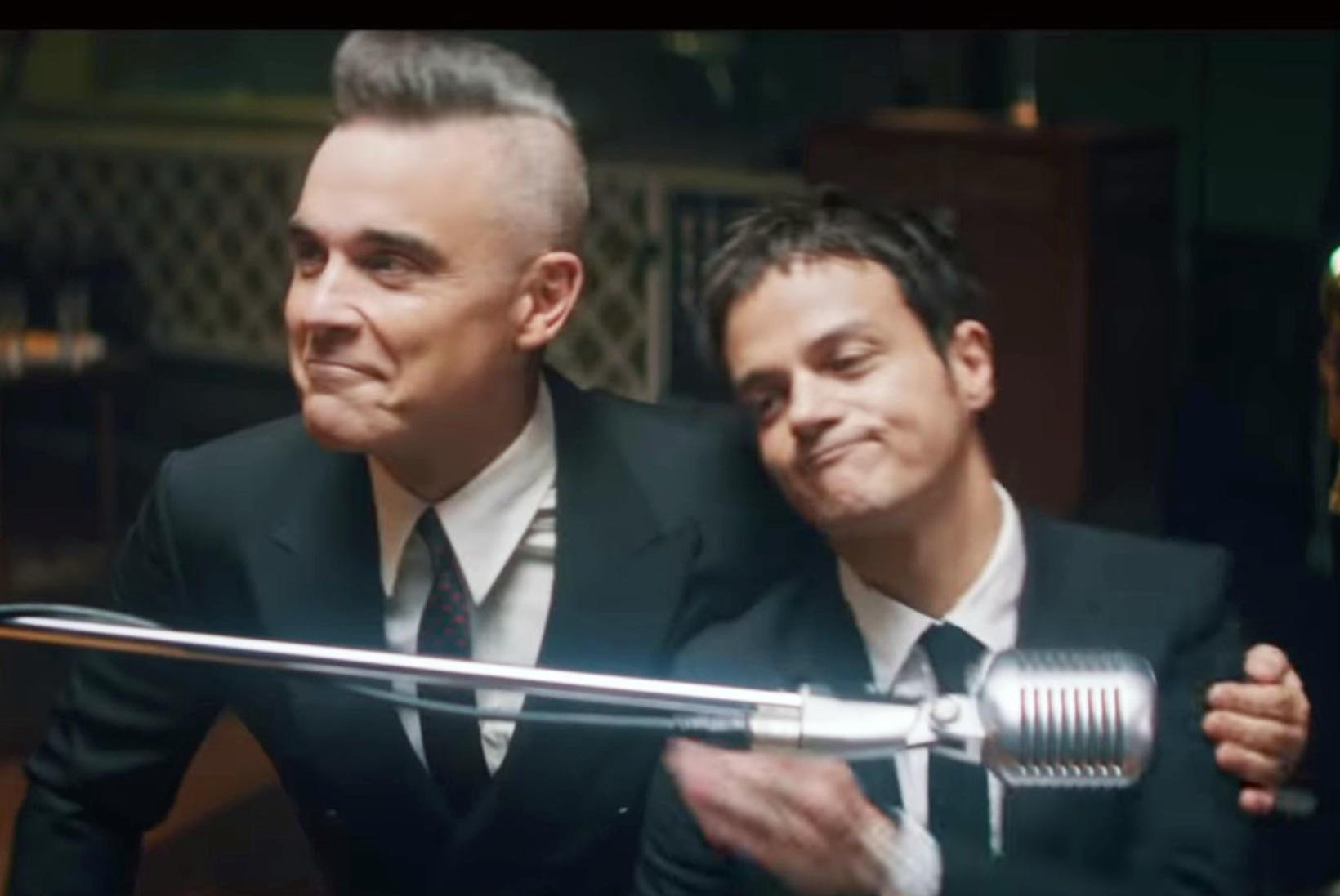 Robbie Williams og Jamie Cullum eru í jólastuði.