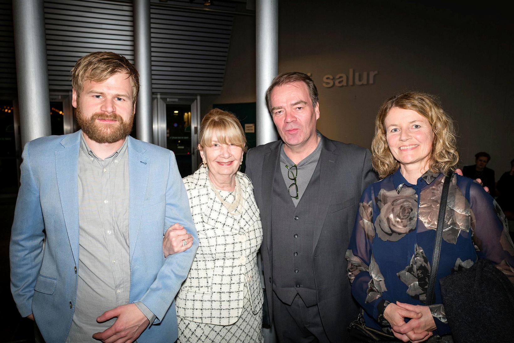 Garðar Borgþórsson, Kristín Jóhannesdóttir, Björn Bergsteinn og Ragna Sigurðardóttir.
