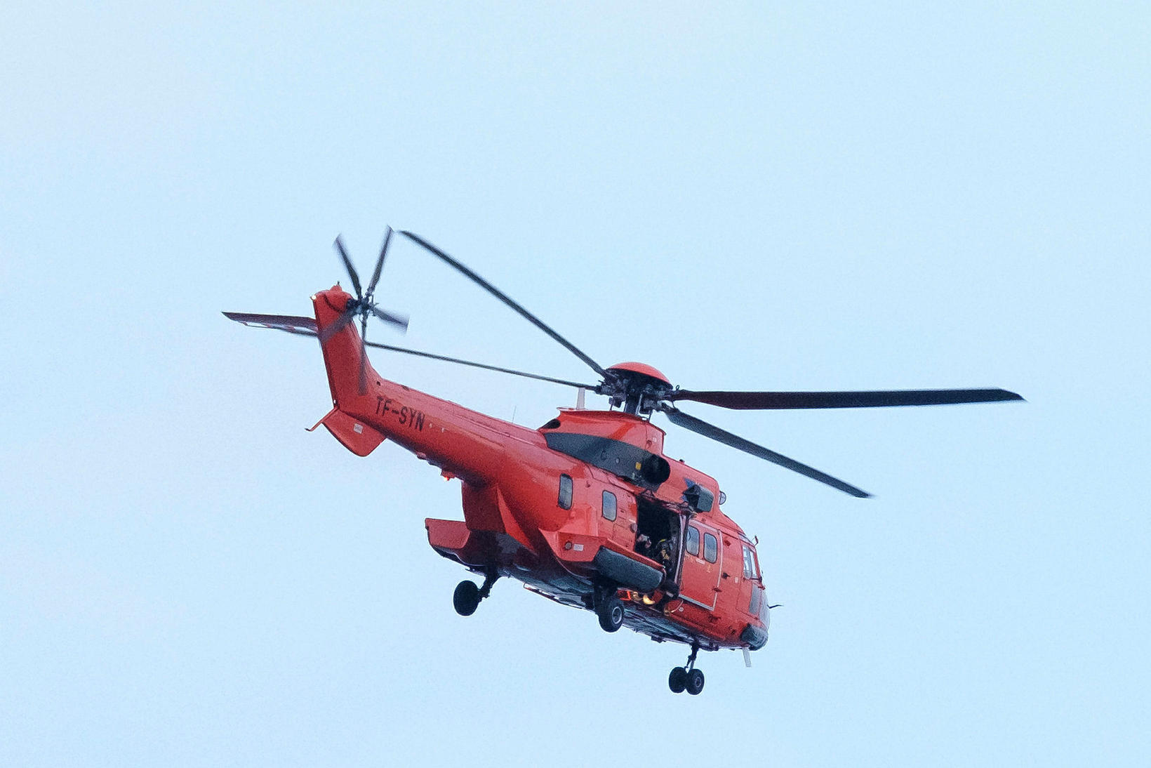 The Icelandic Coast Guard helicopter was called off, because a ...