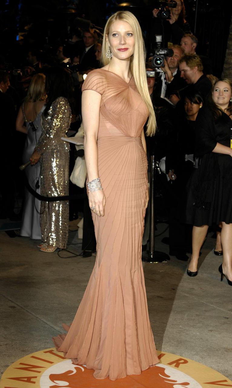 Gwyneth Paltrow í Óskarsverlaunaveislu árið 2007.