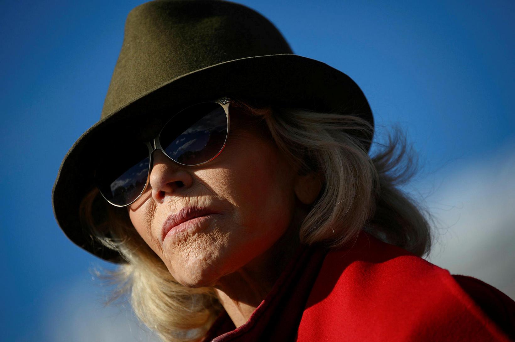 Jane Fonda hefur mótmælt síðustu fjóra föstudaga.