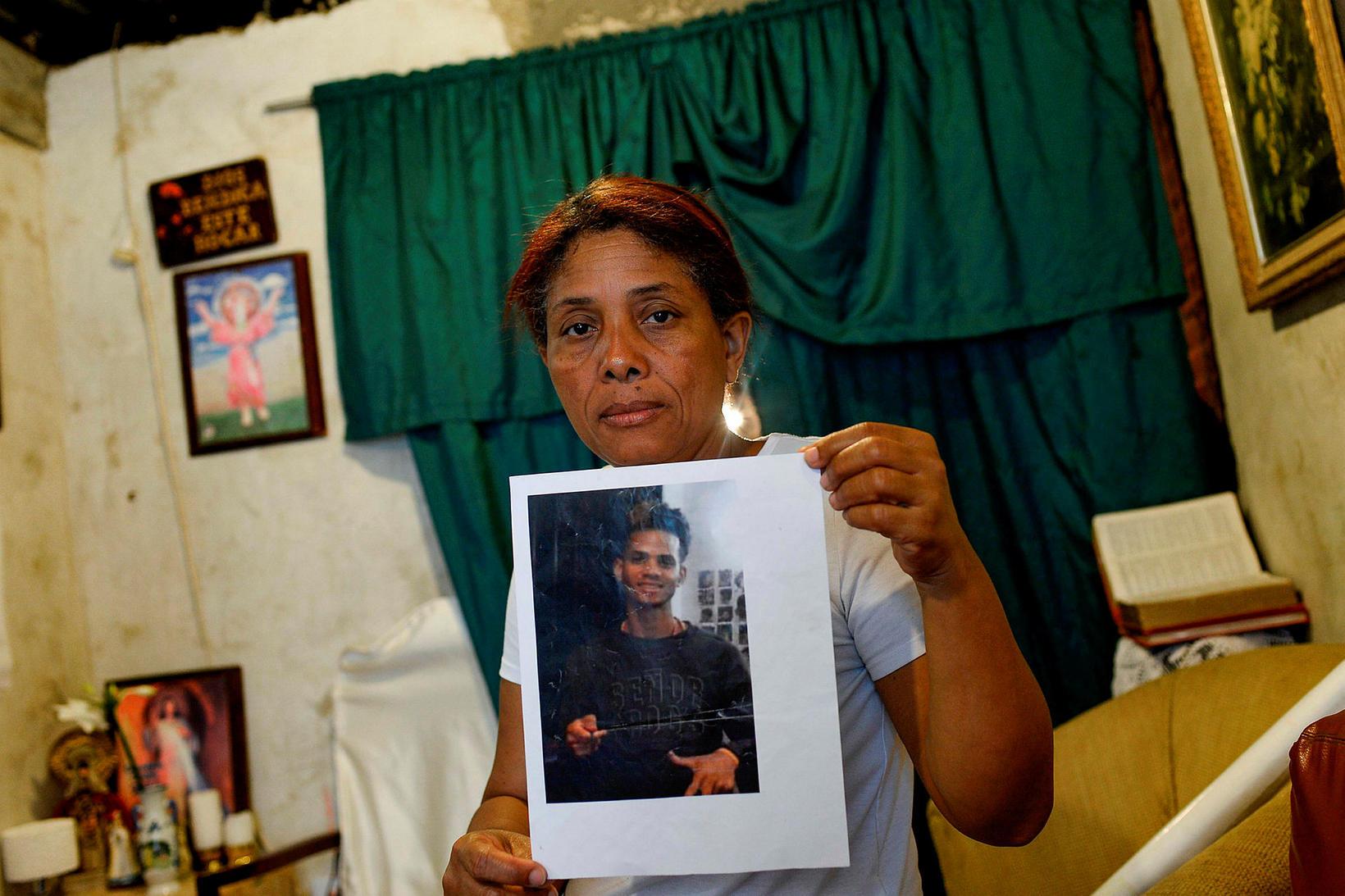 Christian Charris, einkasonur Carmen Arroyo, var myrtur í september í ...