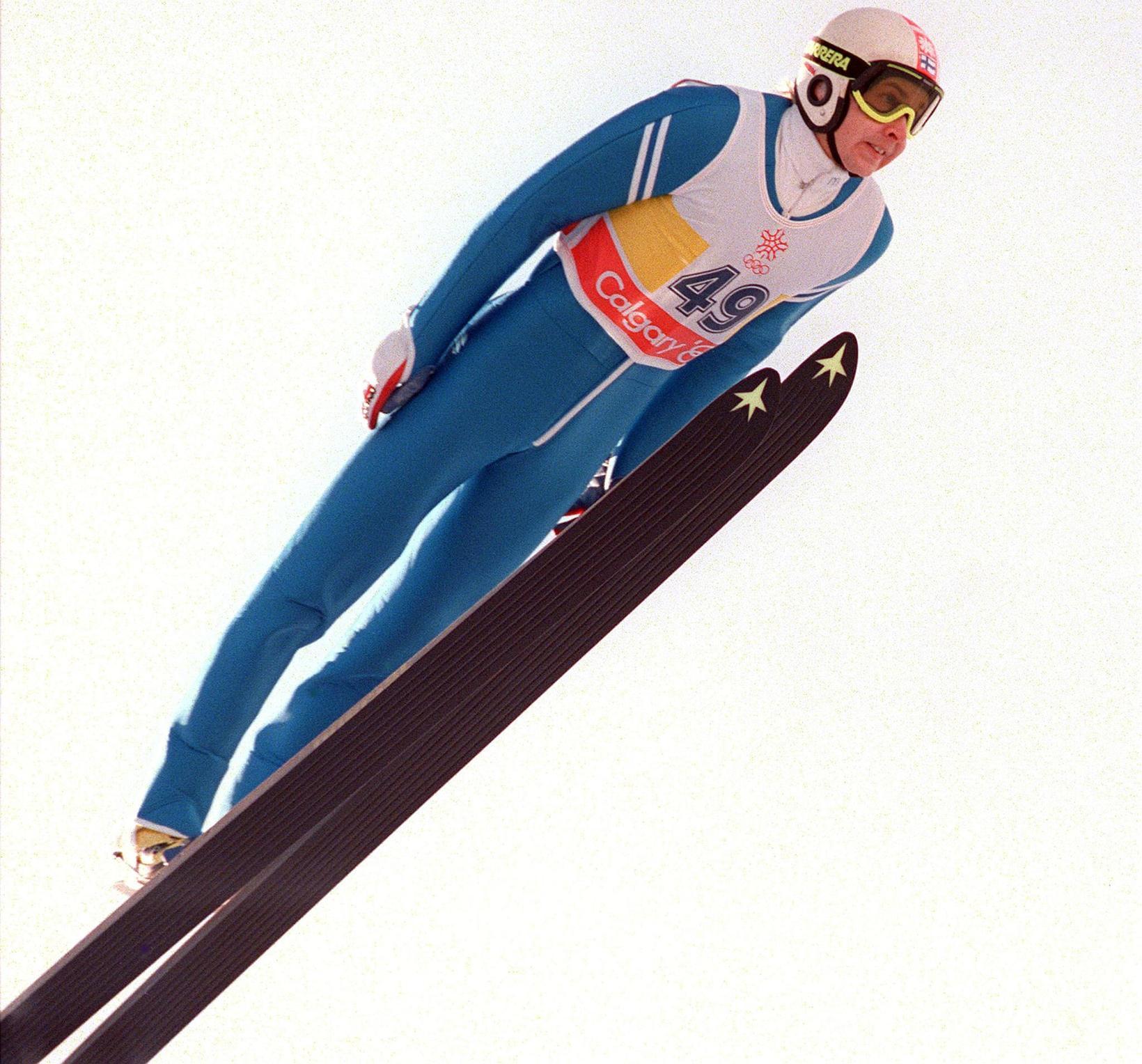 Matti Nykänen á ÓL 1988.