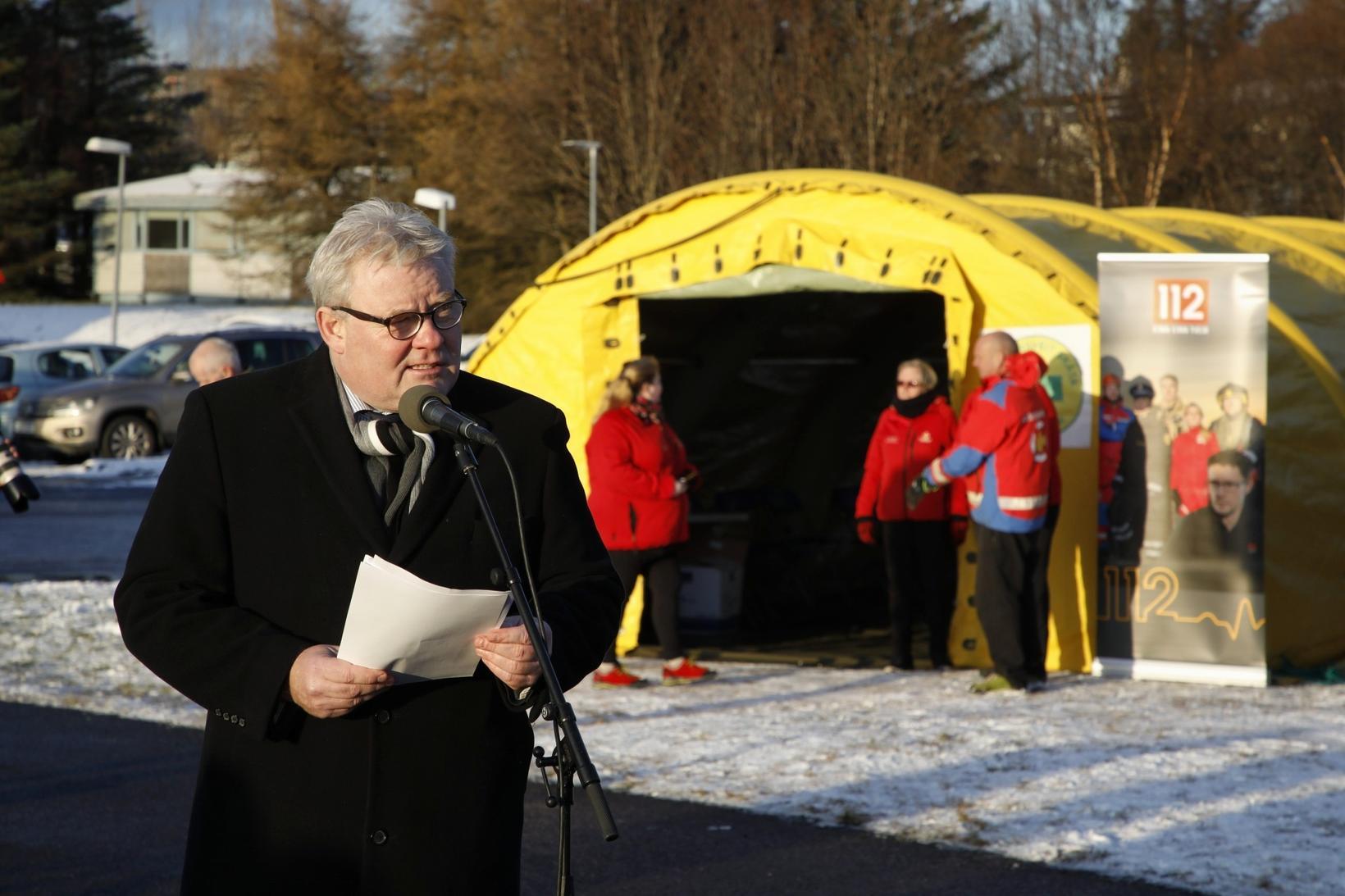 Minister of Transport Sigurður Ingi Jóhannsson.