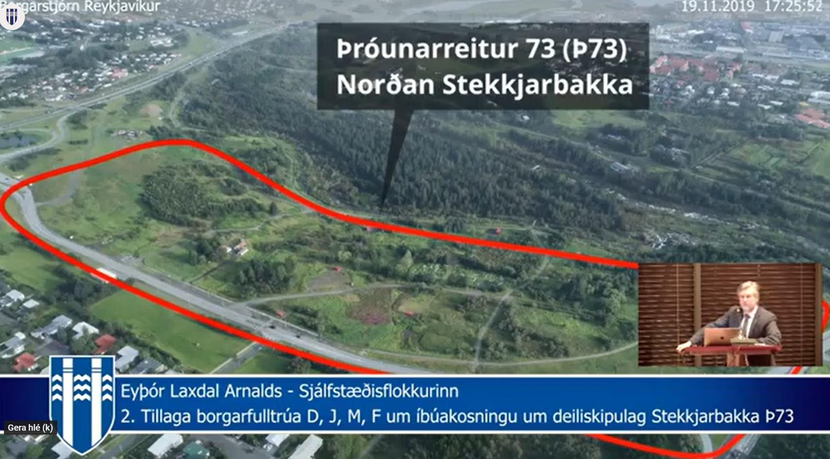 Eyþór Arnalds birti þessa mynd af þróunarreitnum og sagði að ...
