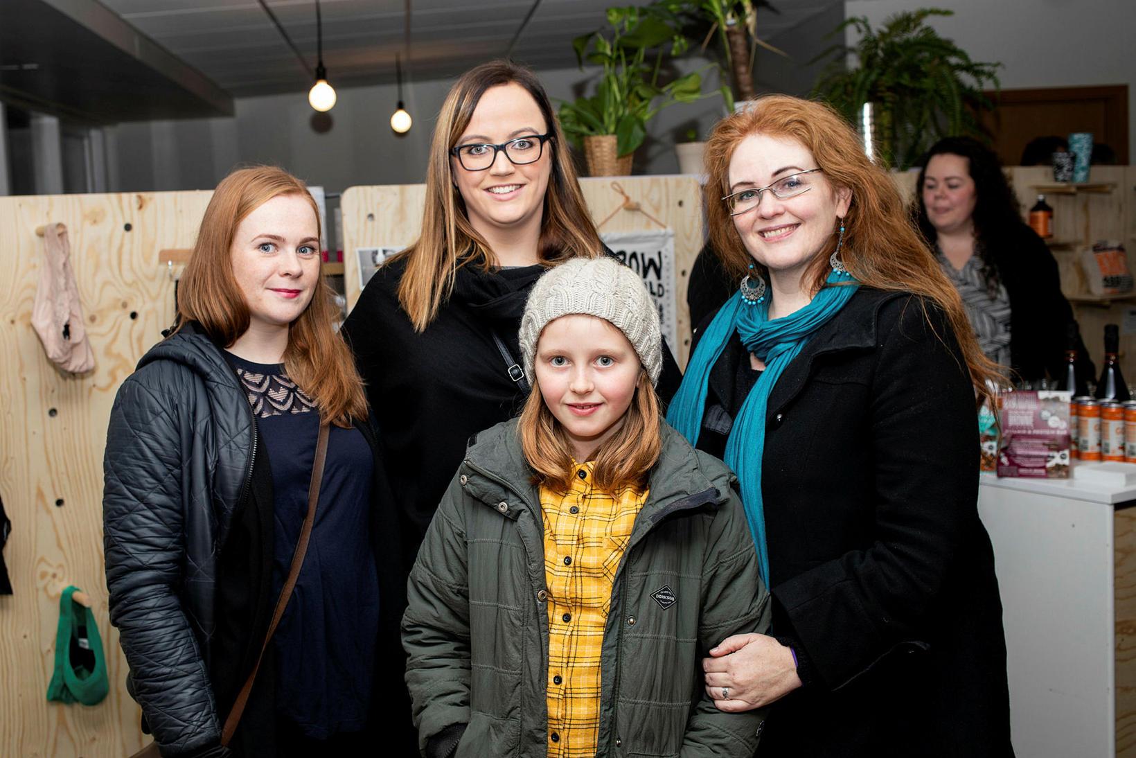 Lena, Kristún Anna, Brynhildur Björnsdóttir og Sigrún Ásta.